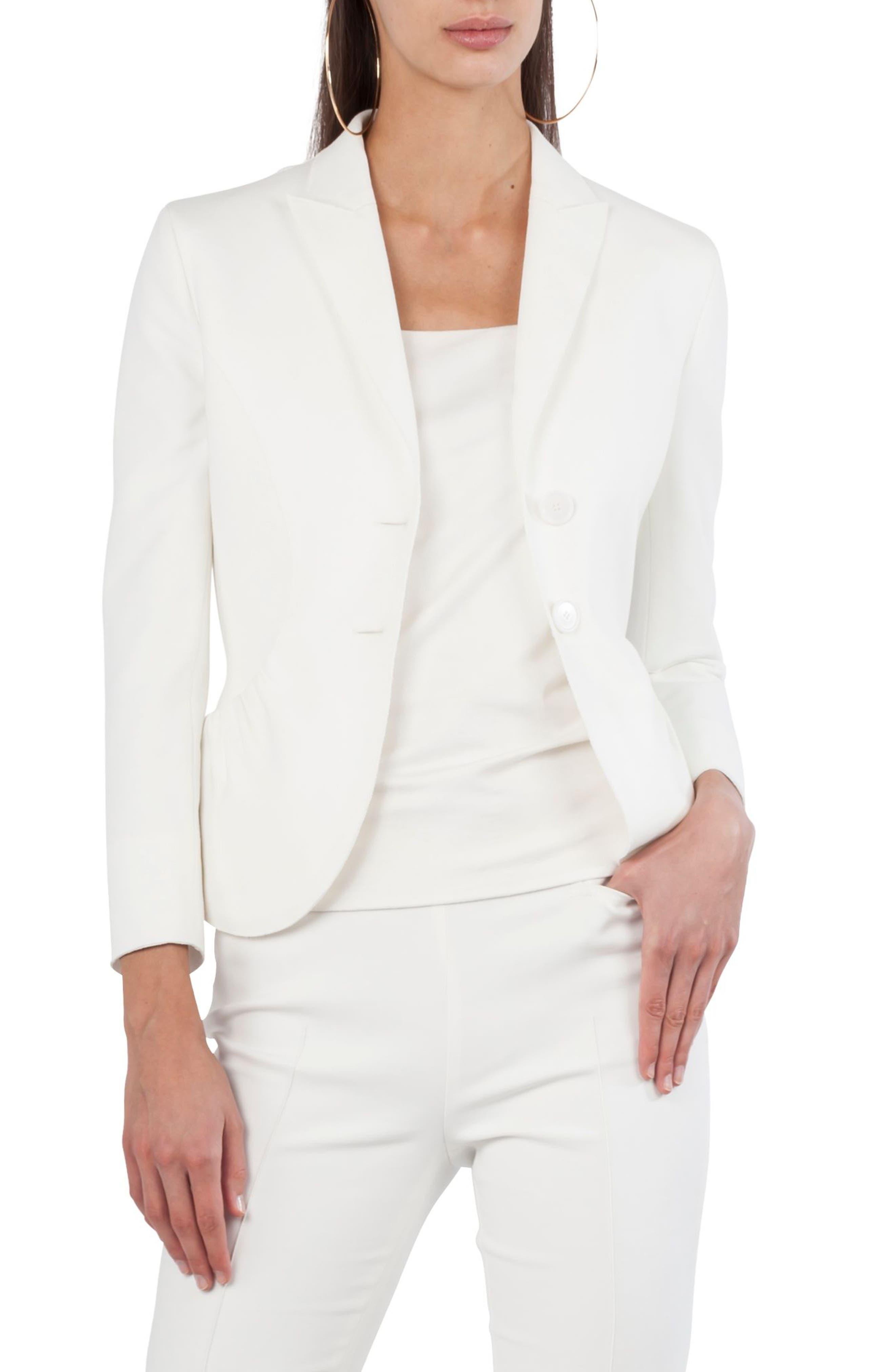 Jersey Two-Button Blazer,                         Main,                         color, Cream