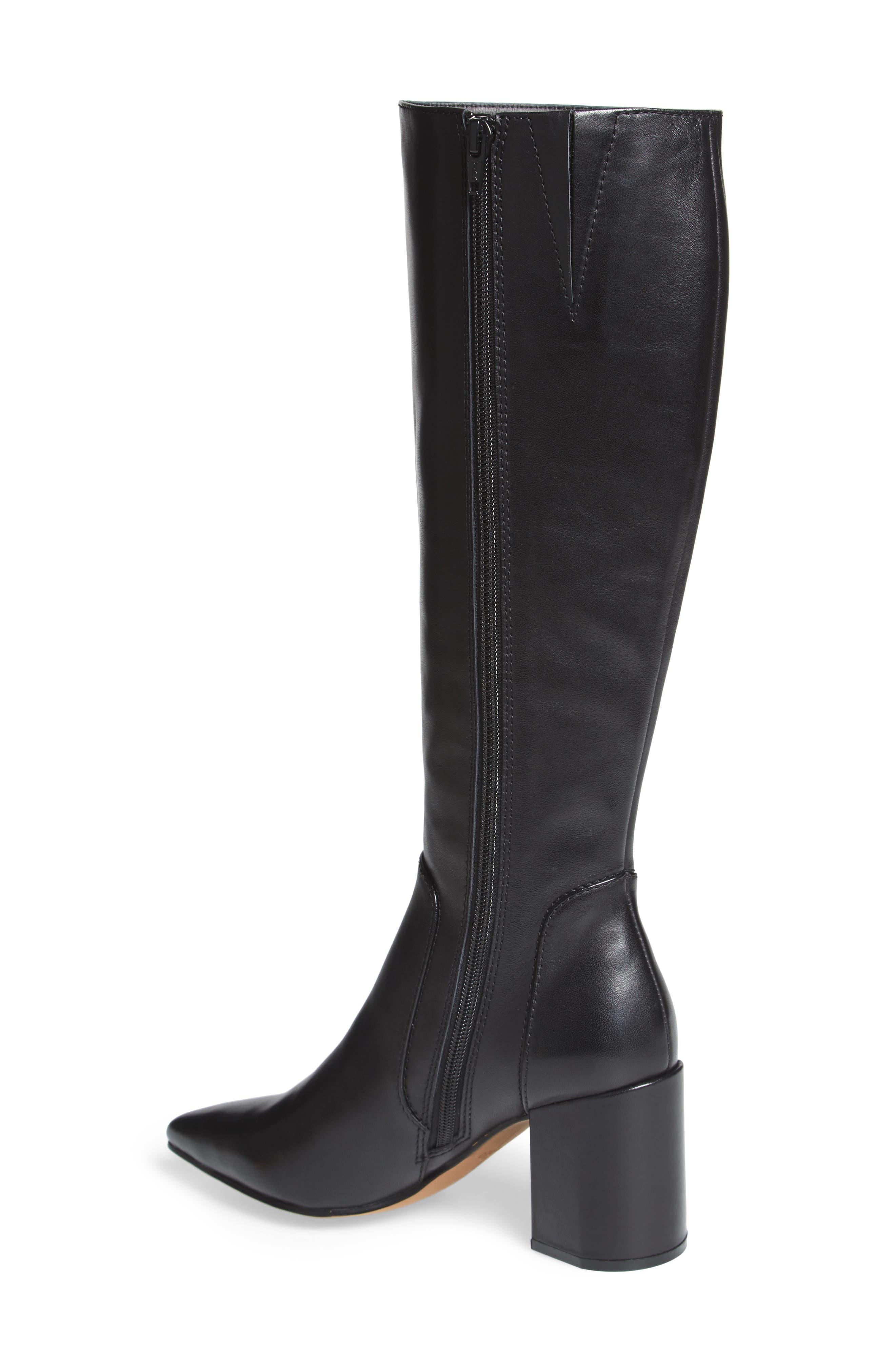 Blink Boot,                             Alternate thumbnail 2, color,                             Black Leather