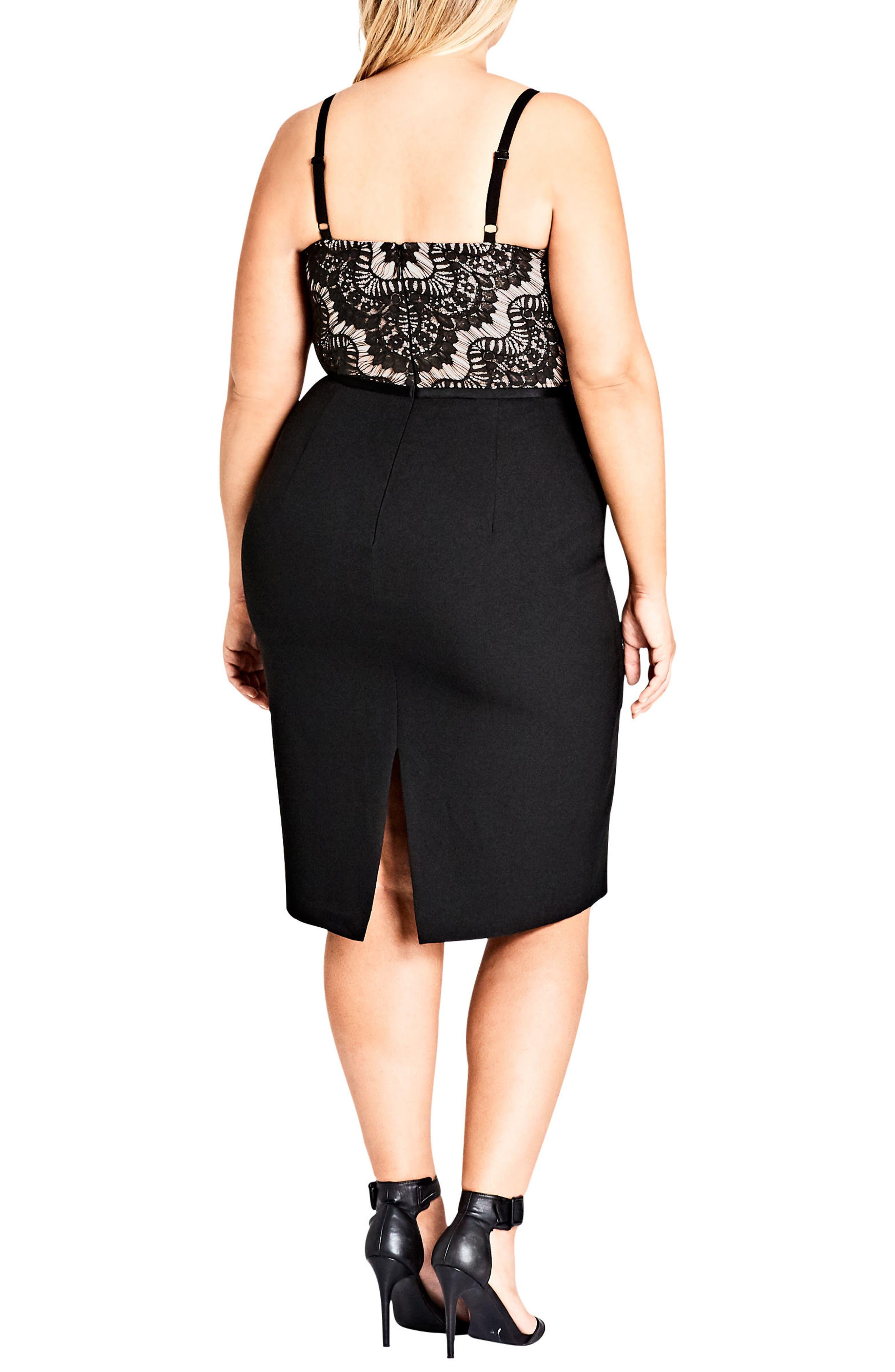 Spell It Out Sheath Dress,                             Alternate thumbnail 2, color,                             Black