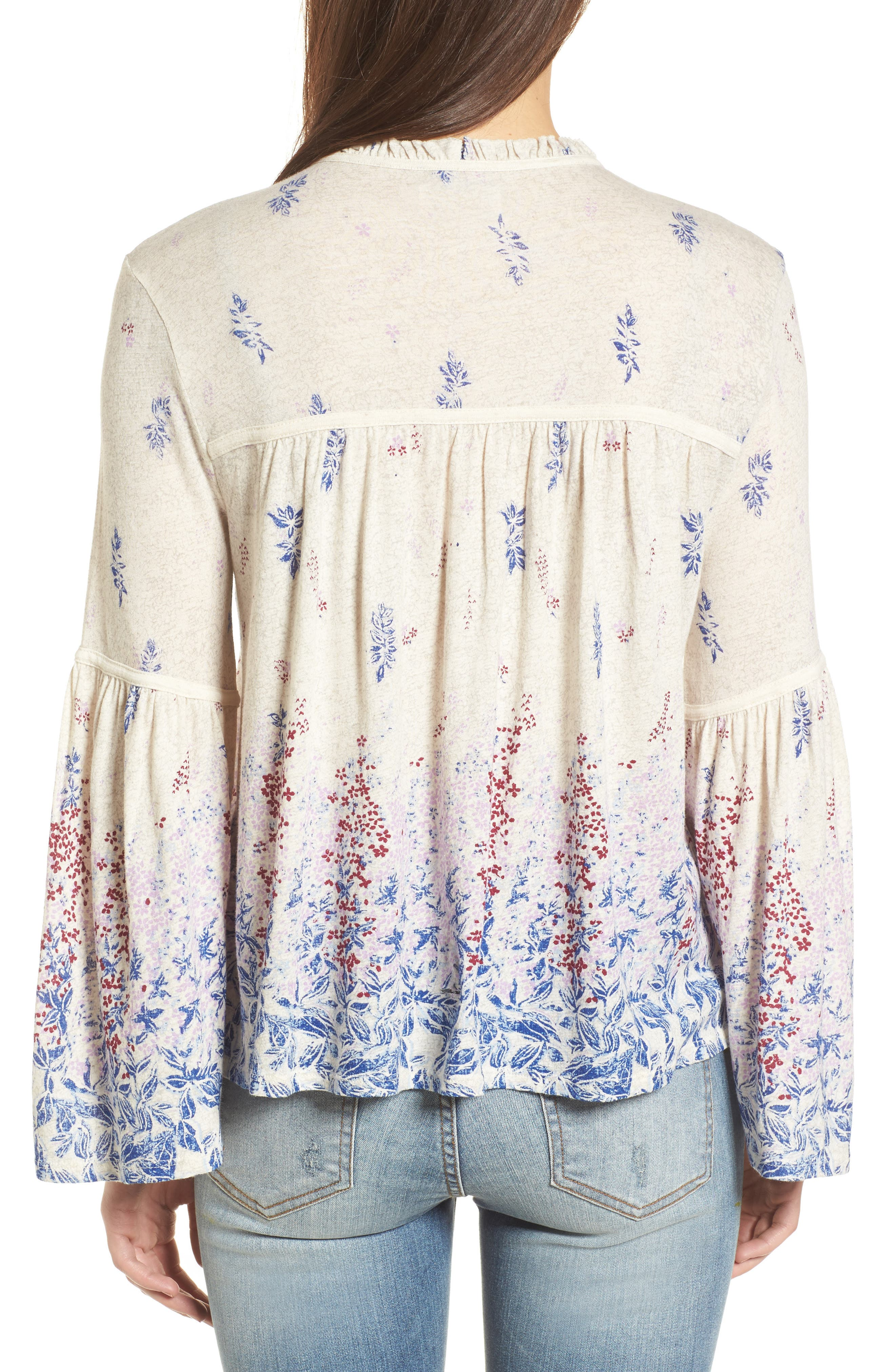 Alternate Image 2  - Lucky Brand Print Knit Peasant Top