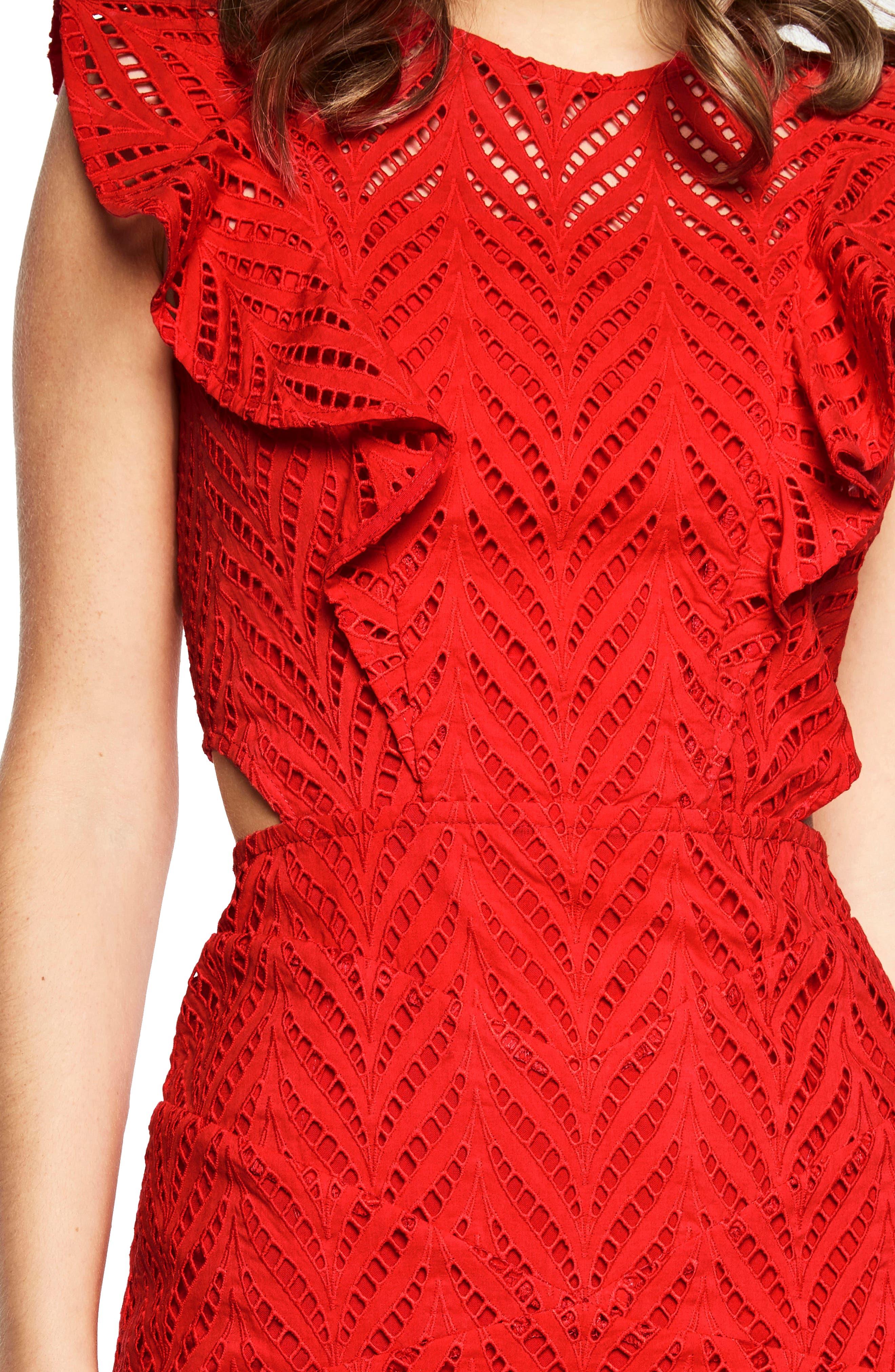 Alternate Image 5  - Bardot Kira Crochet Ruffle Dress