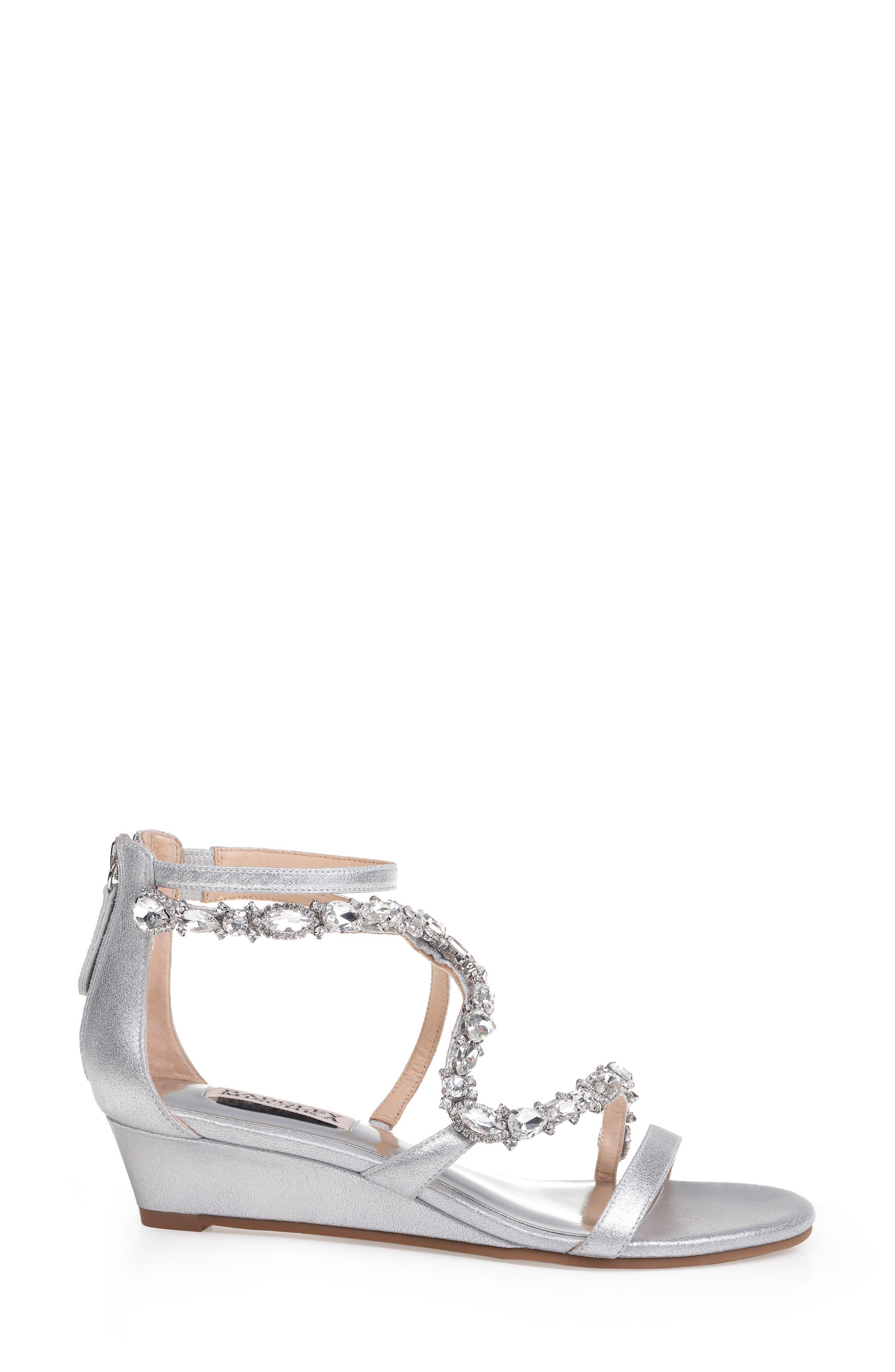 Alternate Image 3  - Badgley Mischka Sierra Strappy Wedge Sandal (Women)