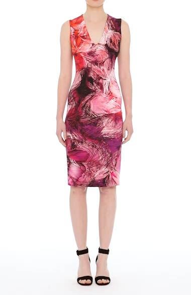 Print Sheath Dress,                         Main,                         color,