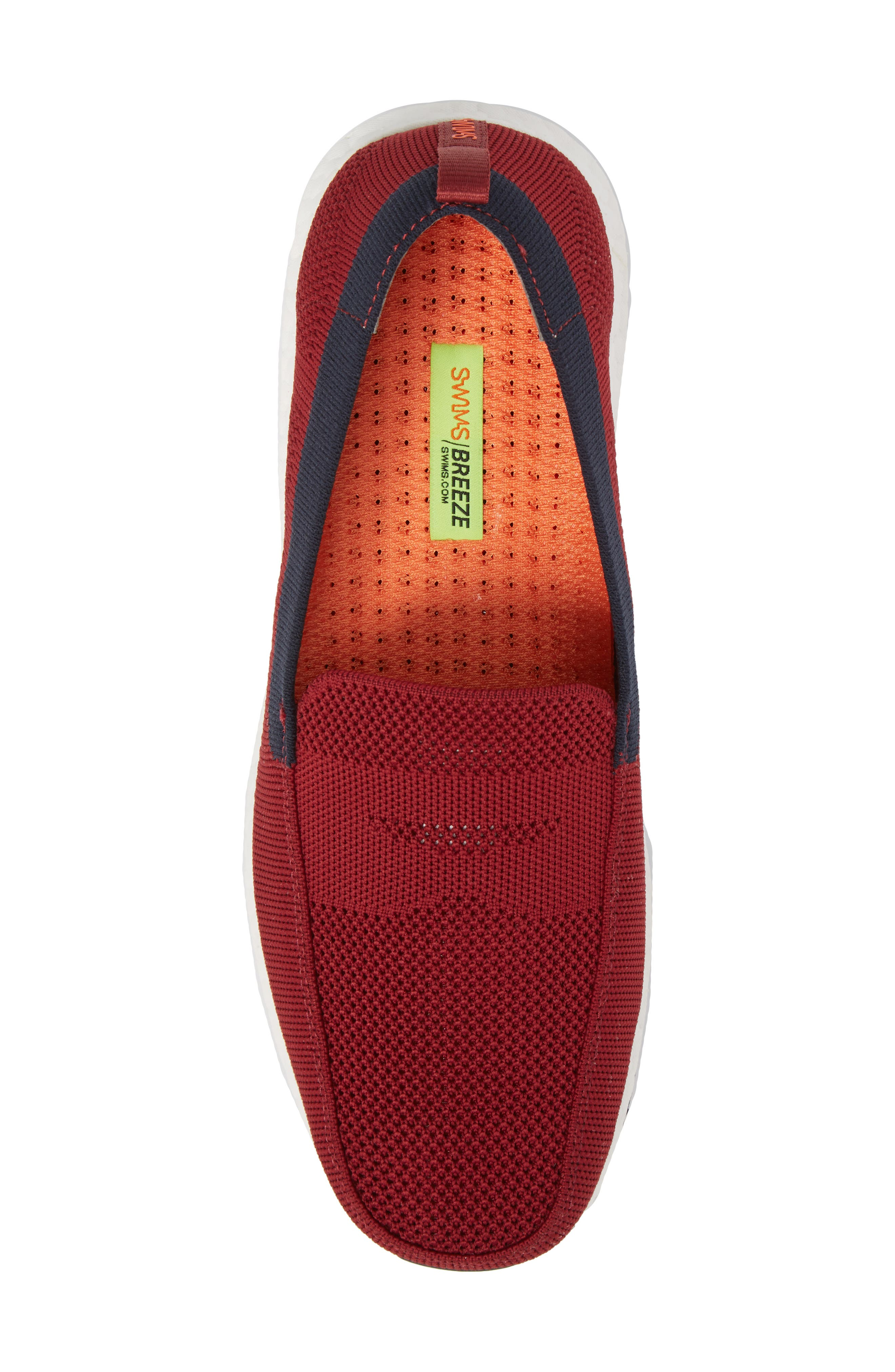 Breeze Leap Penny Loafer,                             Alternate thumbnail 5, color,                             Deep Red/ Navy