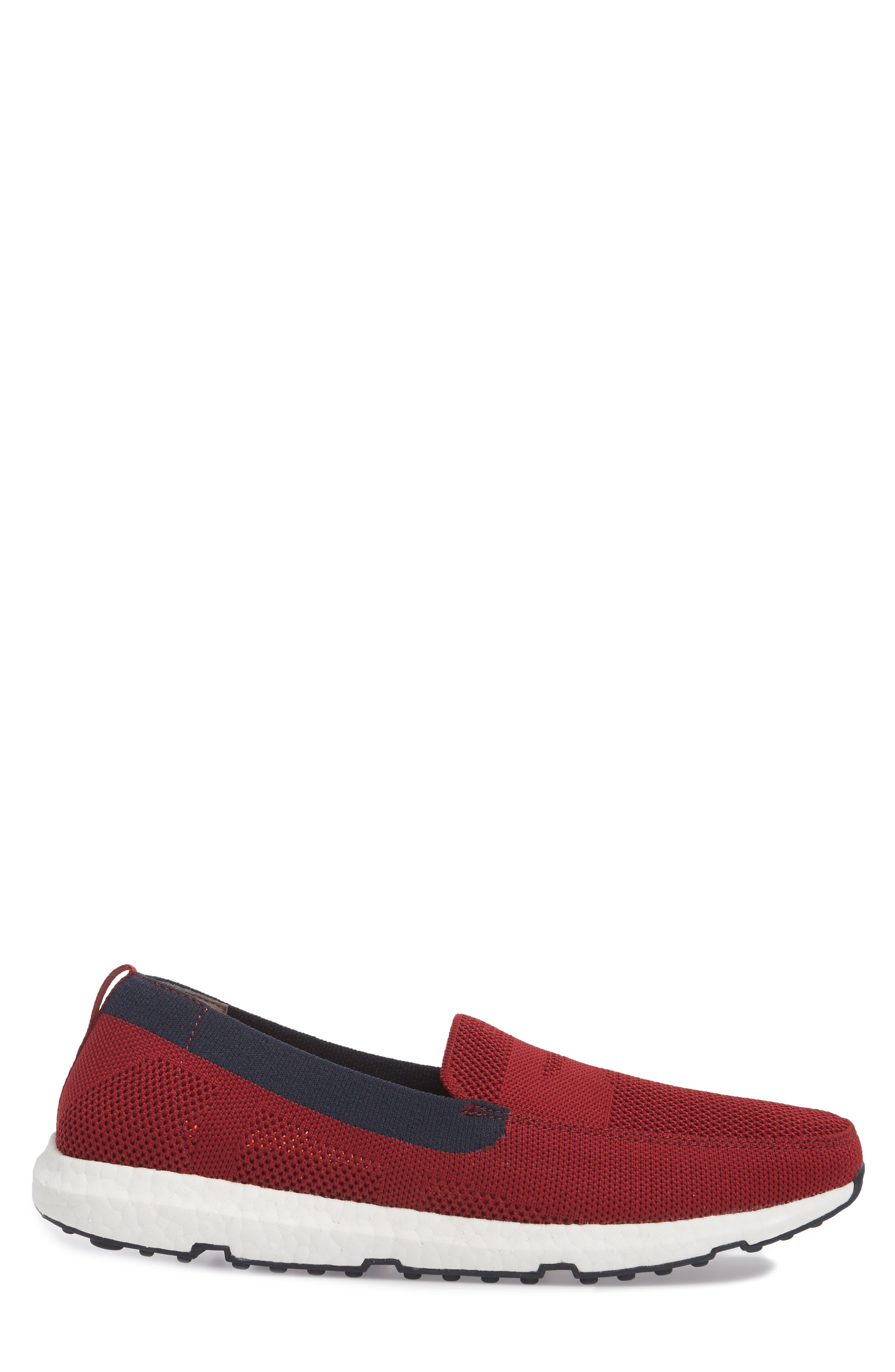 Breeze Leap Penny Loafer,                             Alternate thumbnail 3, color,                             Deep Red/ Navy