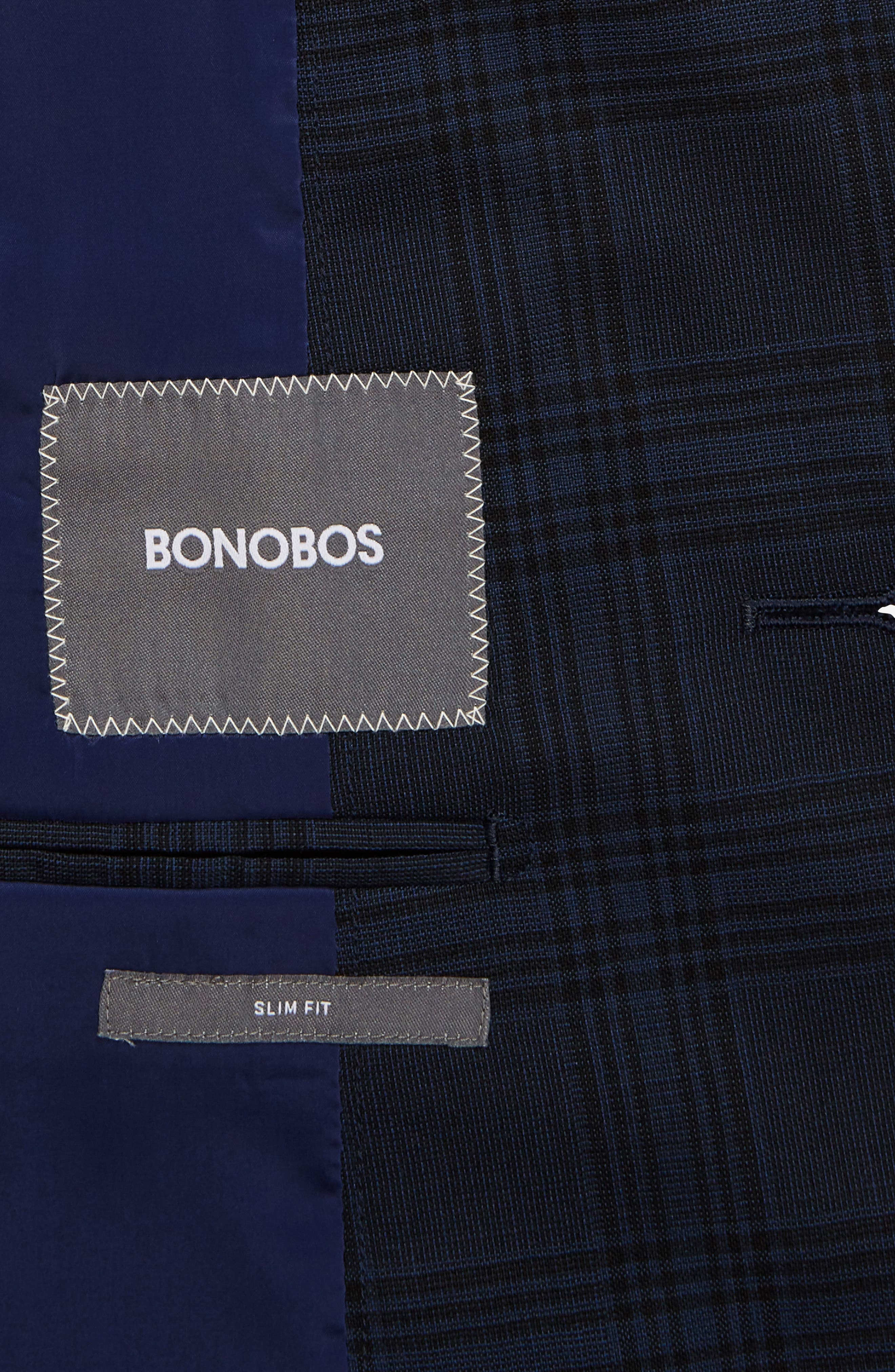 Alternate Image 5  - Bonobos Jetsetter Trim Fit Stretch Plaid Wool Blend Suit Jacket