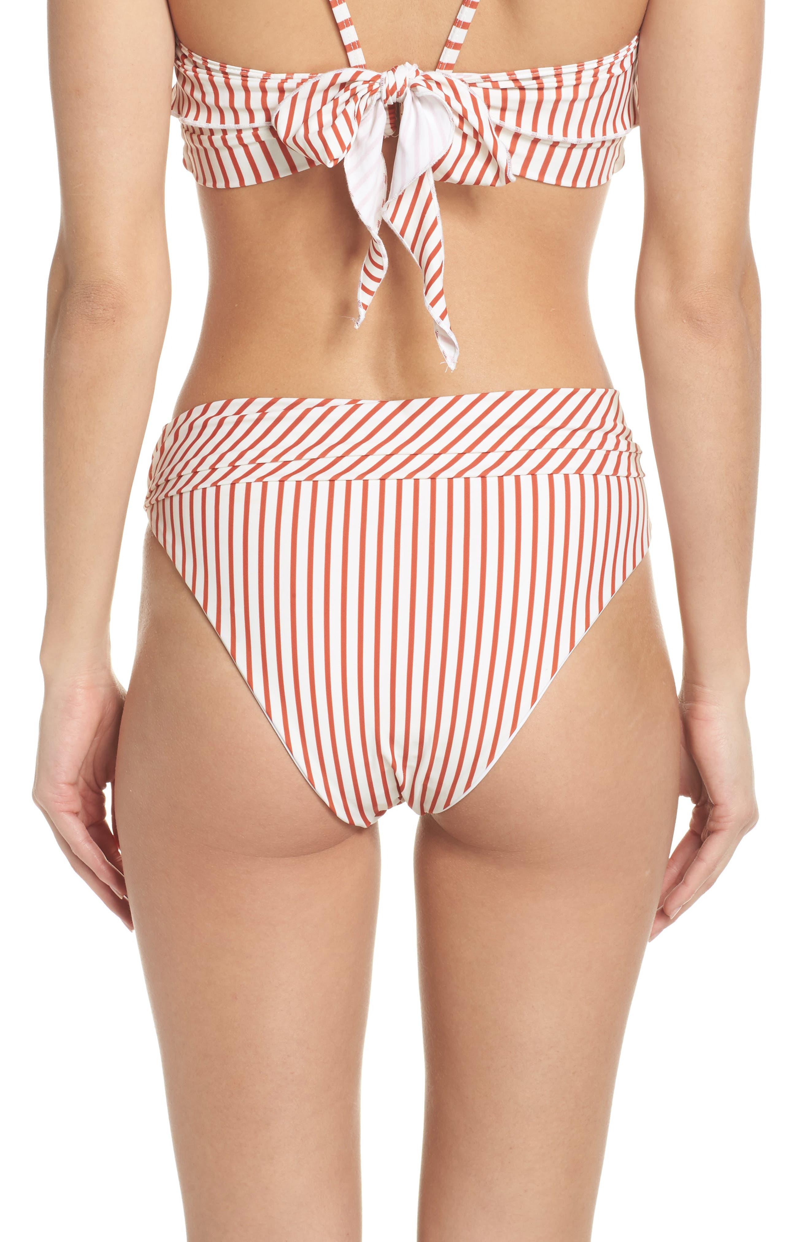 Havana Ring Bikini Bottoms,                             Alternate thumbnail 2, color,                             Red Stripe