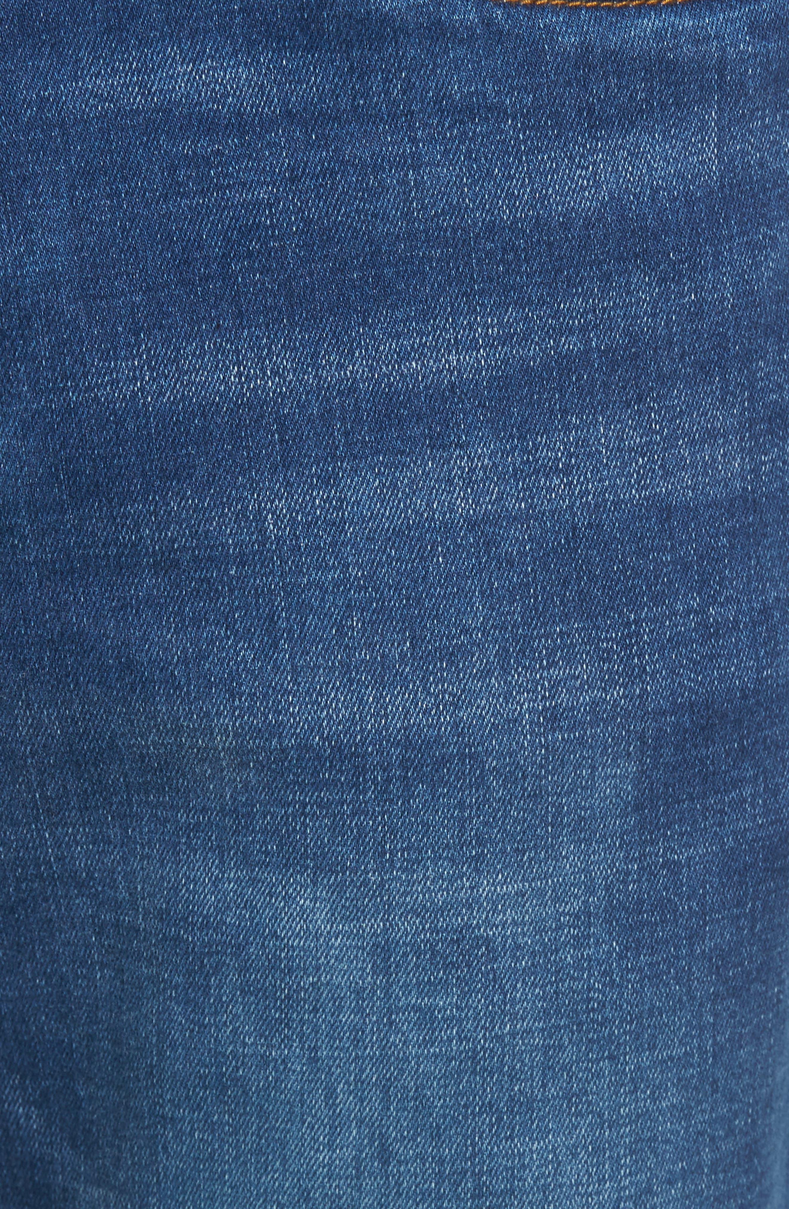 Caicos Authentic Fit Jeans,                             Alternate thumbnail 5, color,                             Medium Indigo