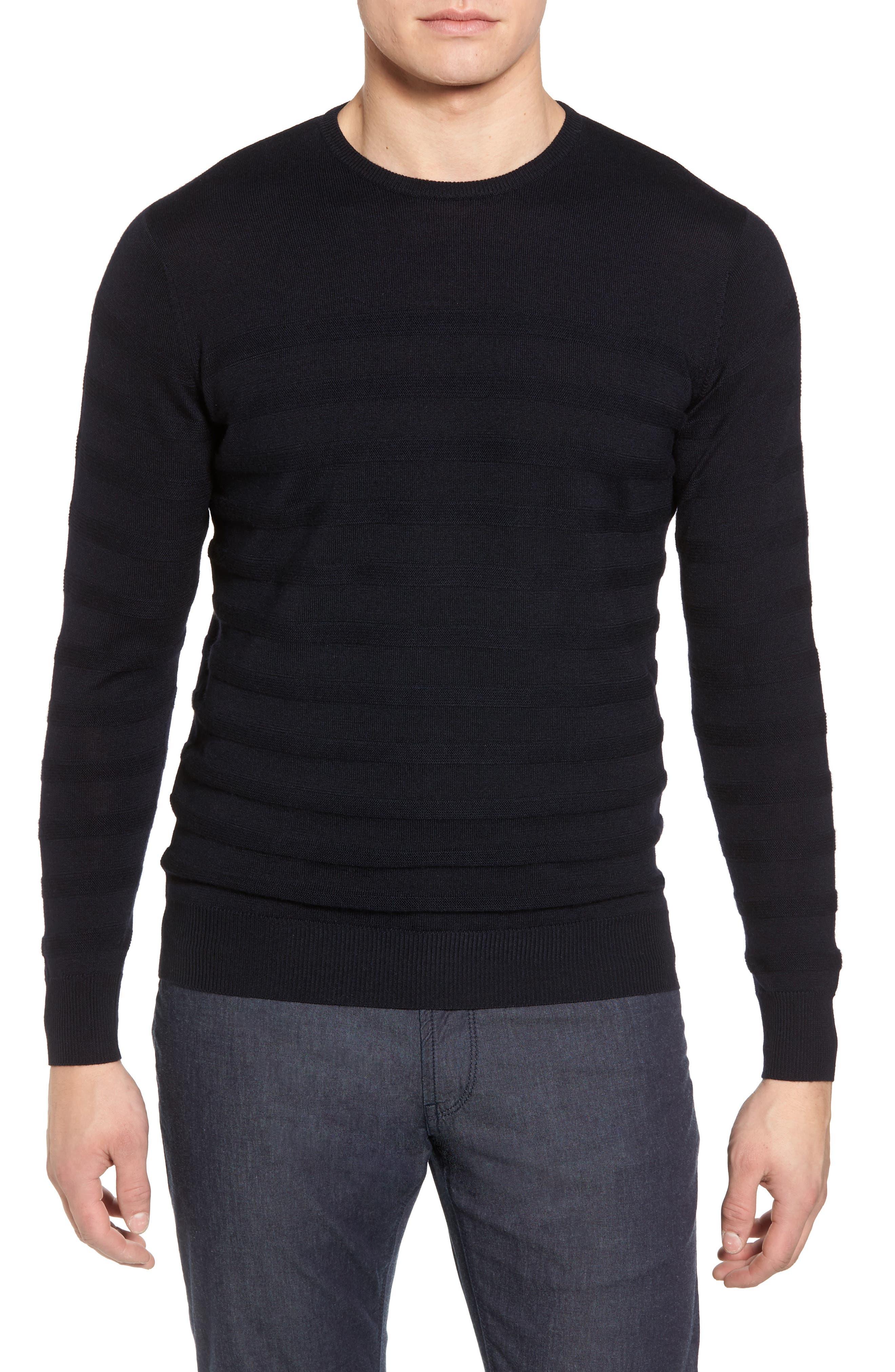 Peter Millar Collection Nautical Stripe Merino Wool Blend Sweater