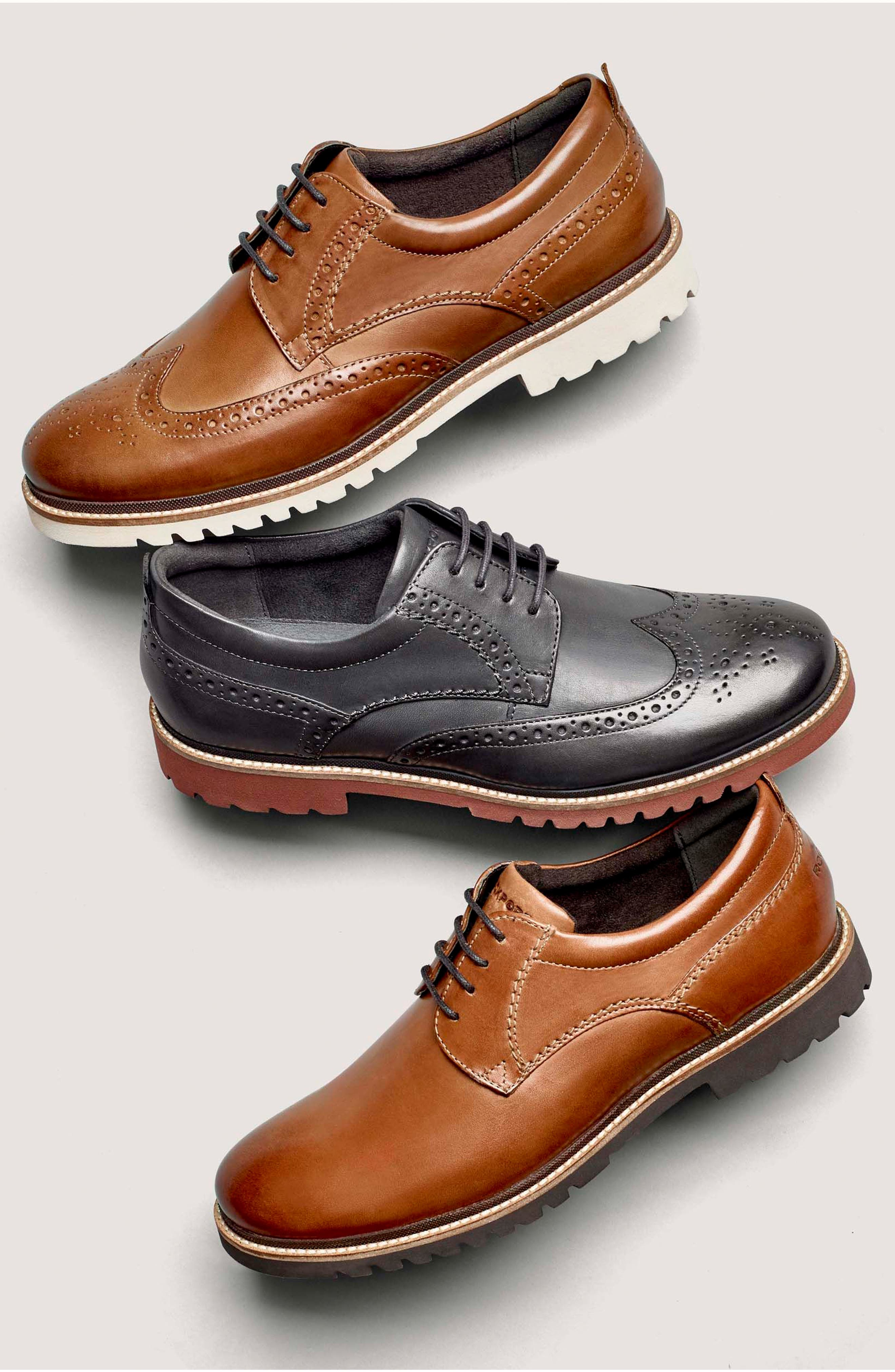 Marshall Wingtip,                             Alternate thumbnail 7, color,                             Cognac Leather