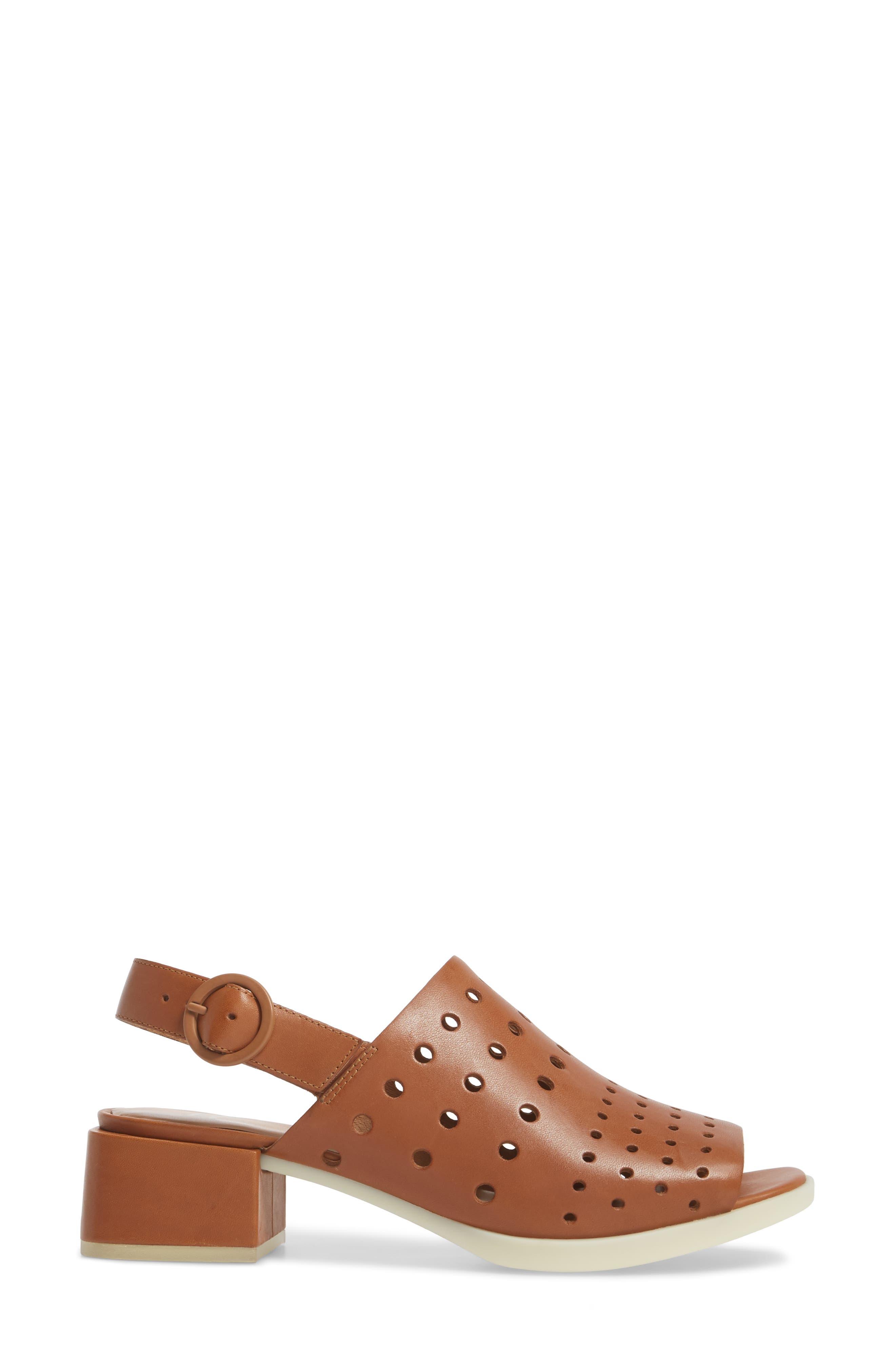 Twins Sandal,                             Alternate thumbnail 3, color,                             Rust/ Copper Leather
