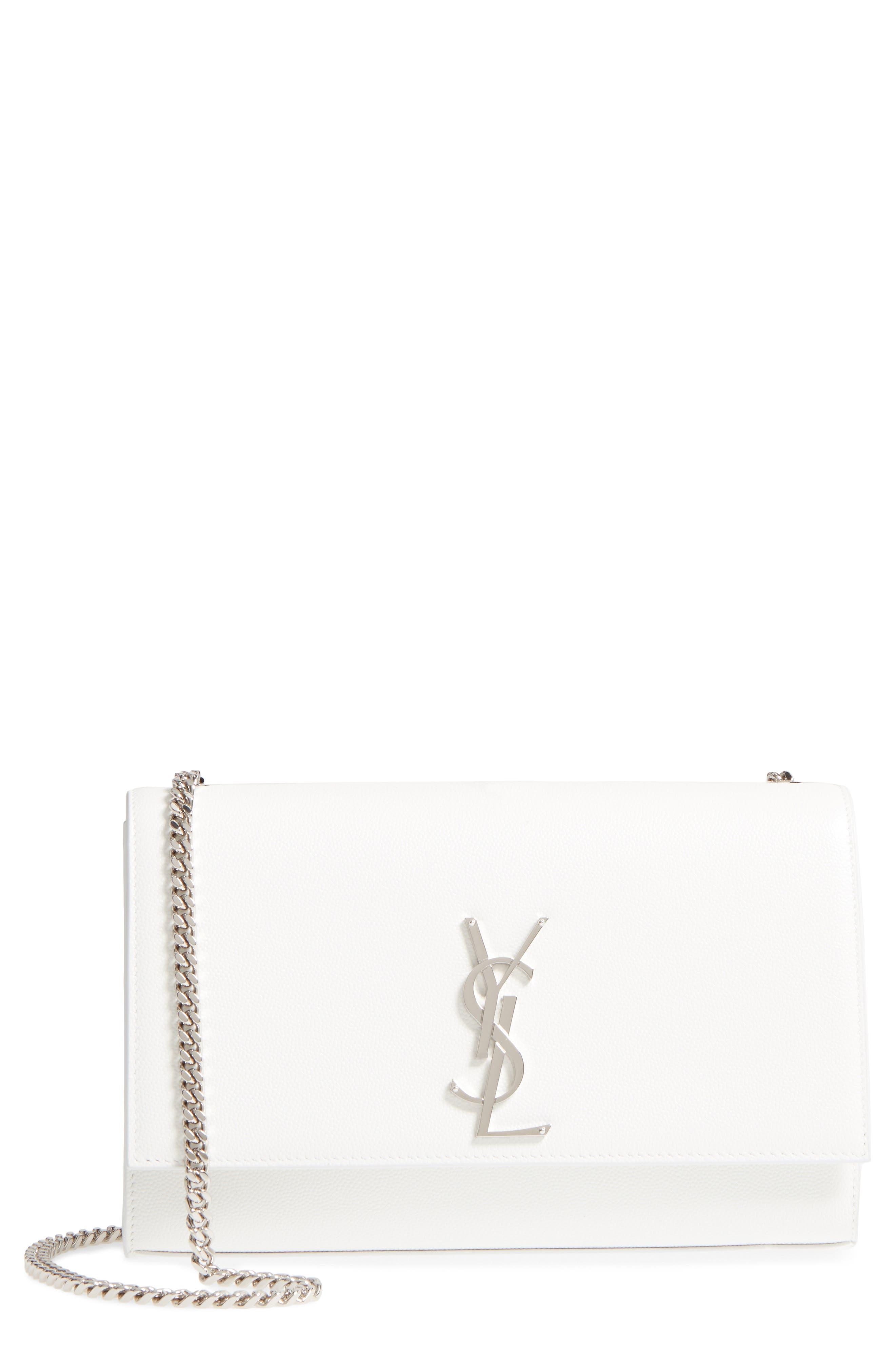 Main Image - Saint Laurent Medium Kate Calfskin Leather Wallet on a Chain