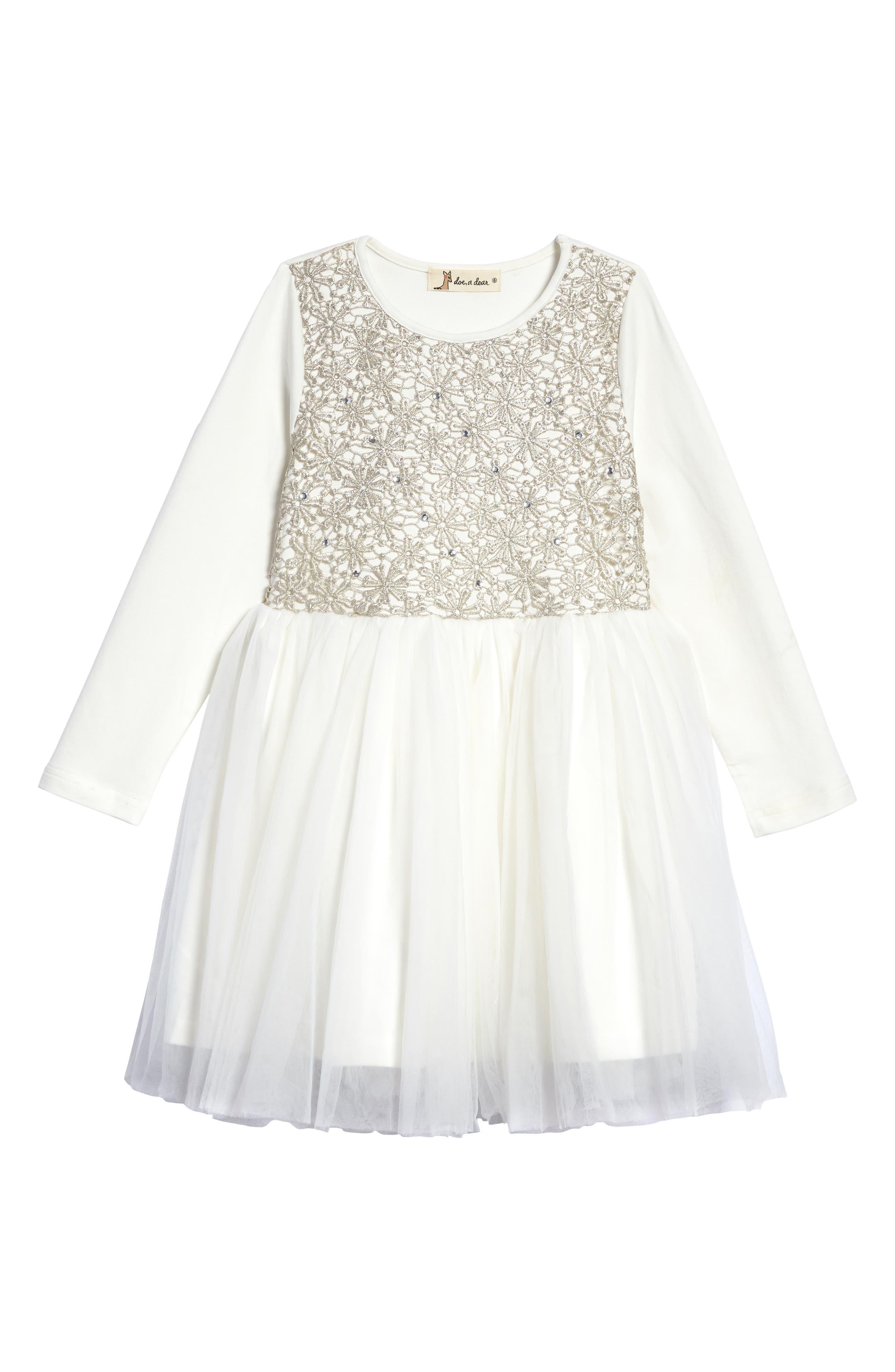Alternate Image 1 Selected - Doe A Dear Tulle Party Dress (Toddler Girls & Little Girls)