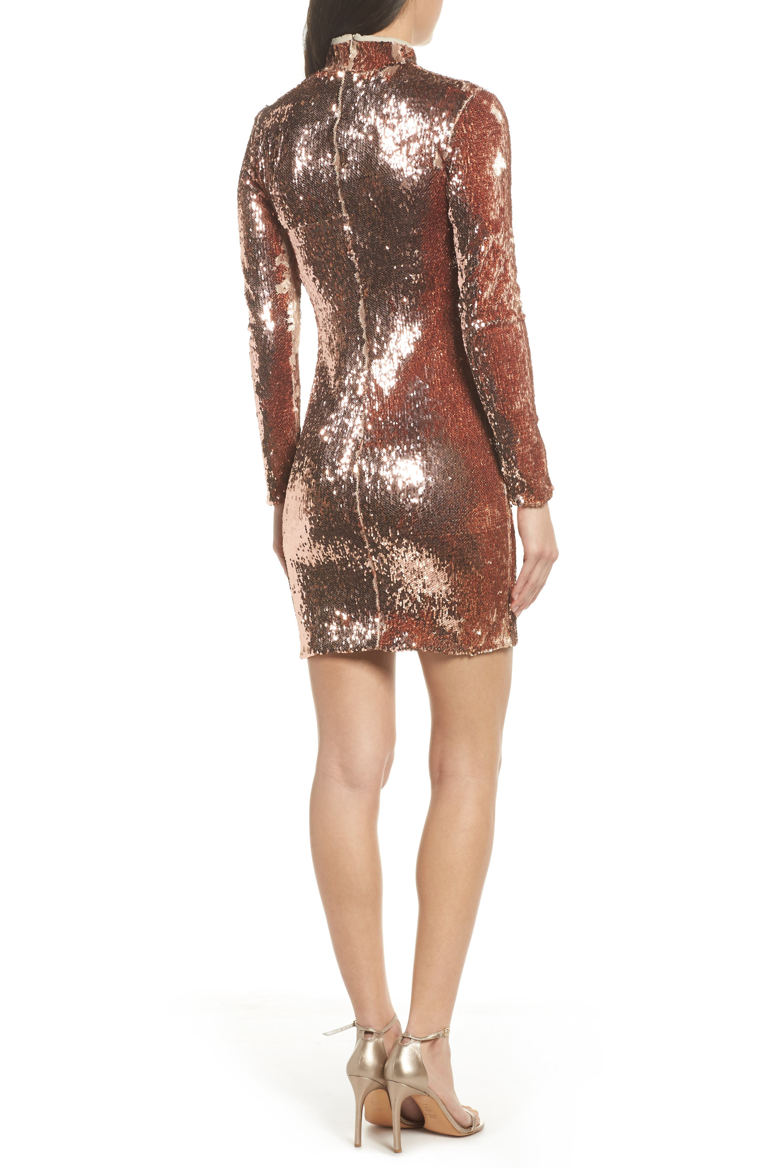Alternate Image 3  - Dress the Population Katy Reversible Sequin Body-Con Dress