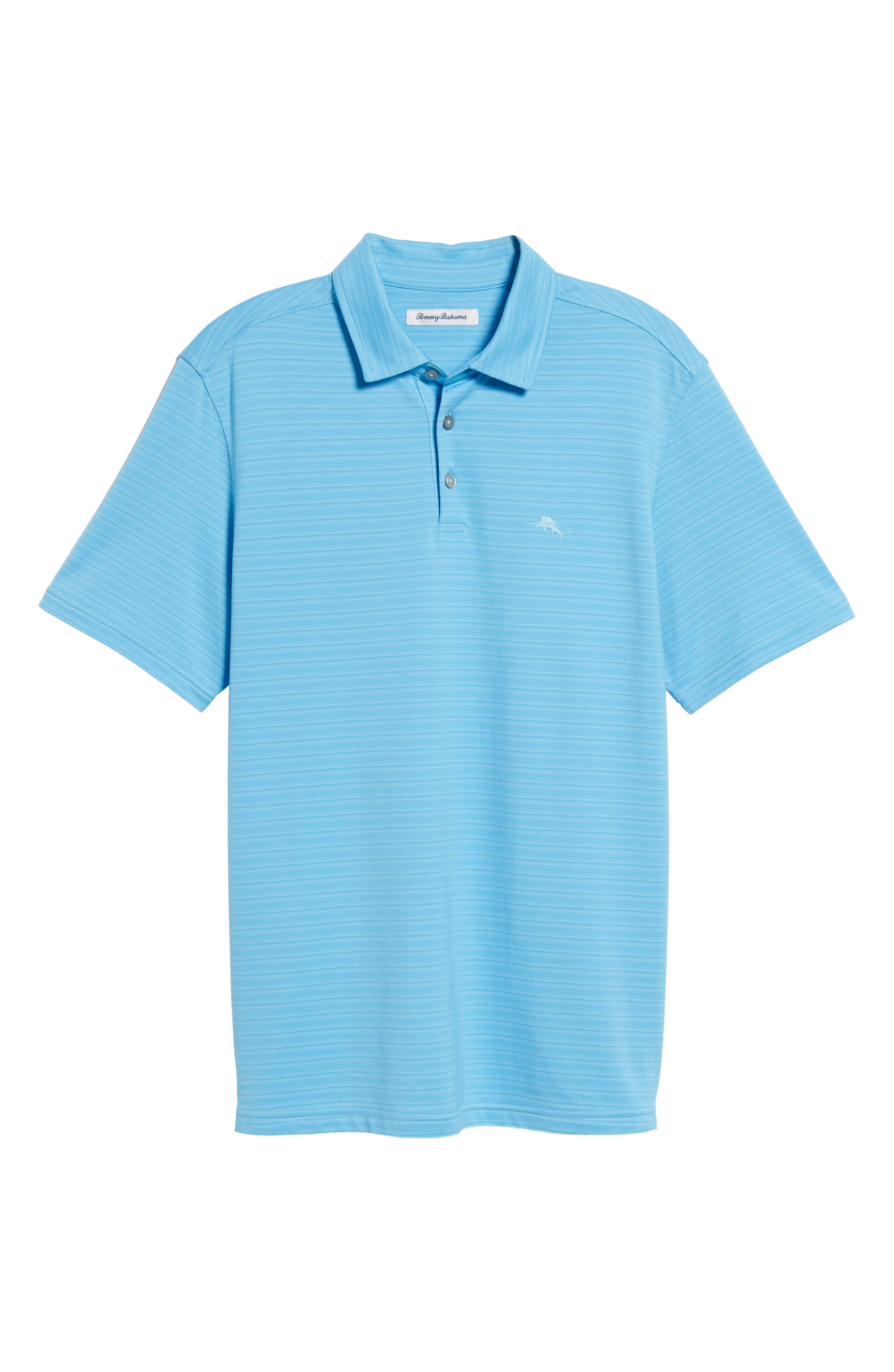New On Par Stripe Polo,                             Alternate thumbnail 6, color,                             Breeze Blue