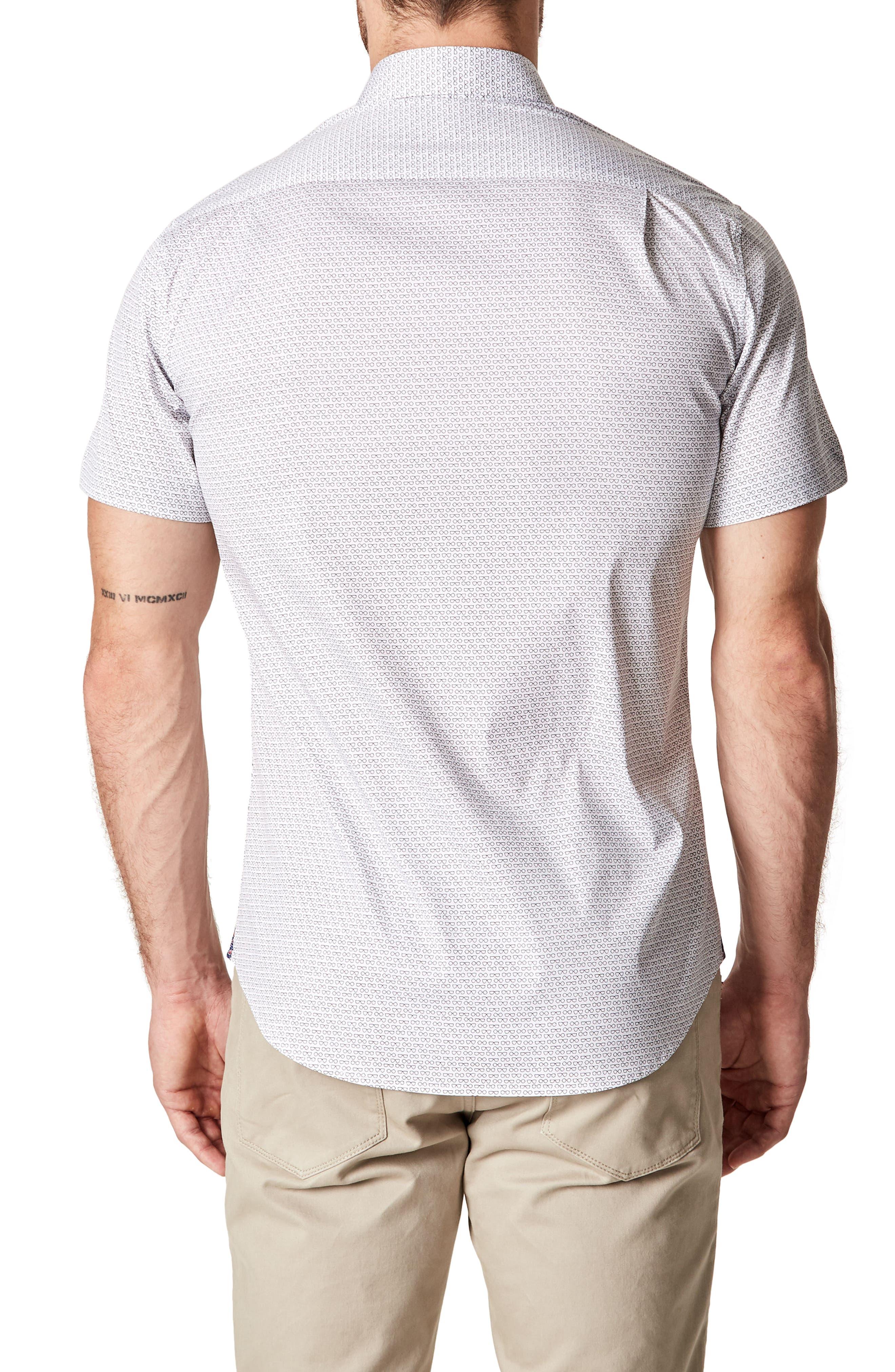 Bright Life Woven Shirt,                             Alternate thumbnail 2, color,                             White