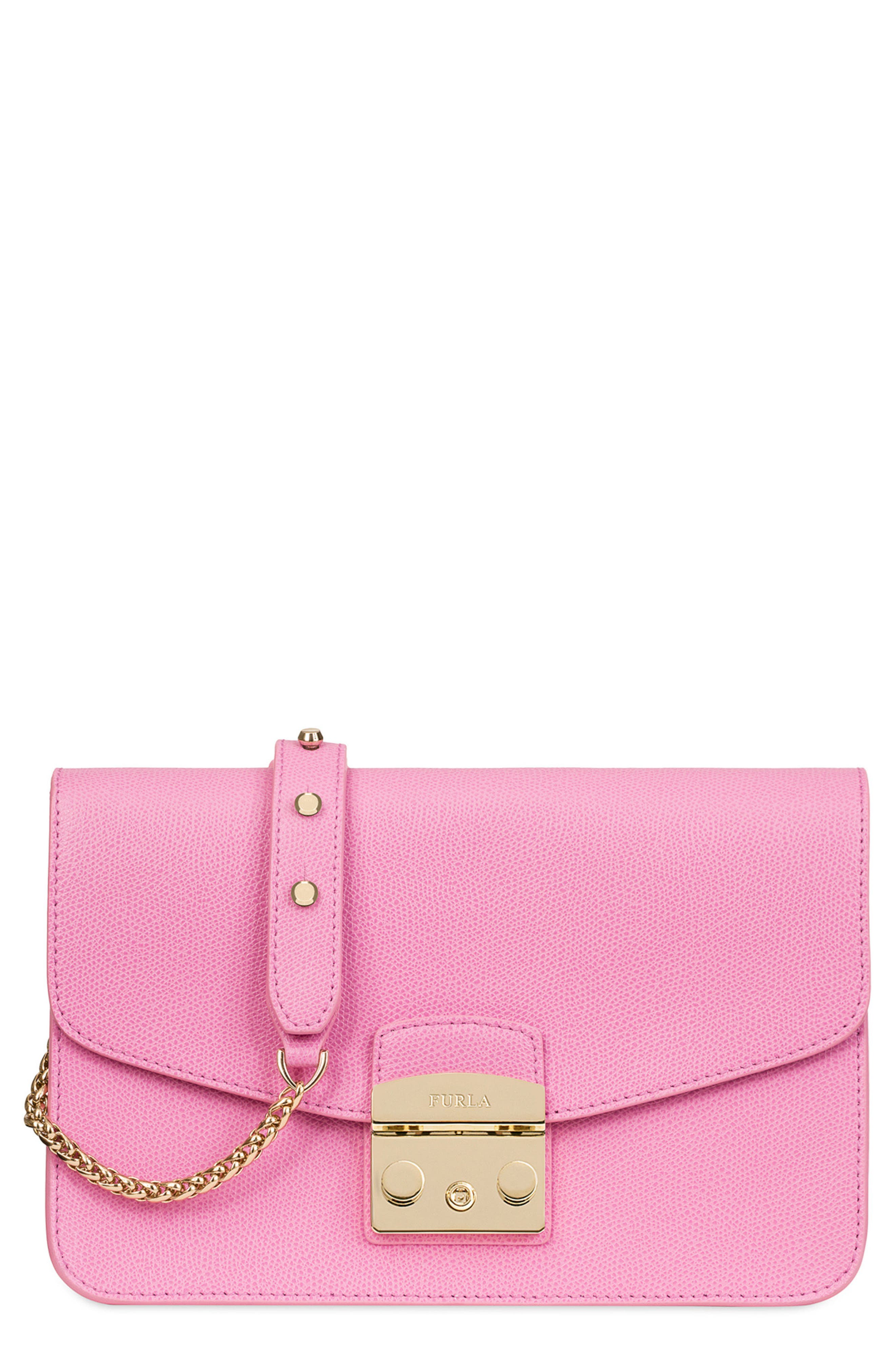 Main Image - Furla Small Metropolis Leather Crossbody Bag