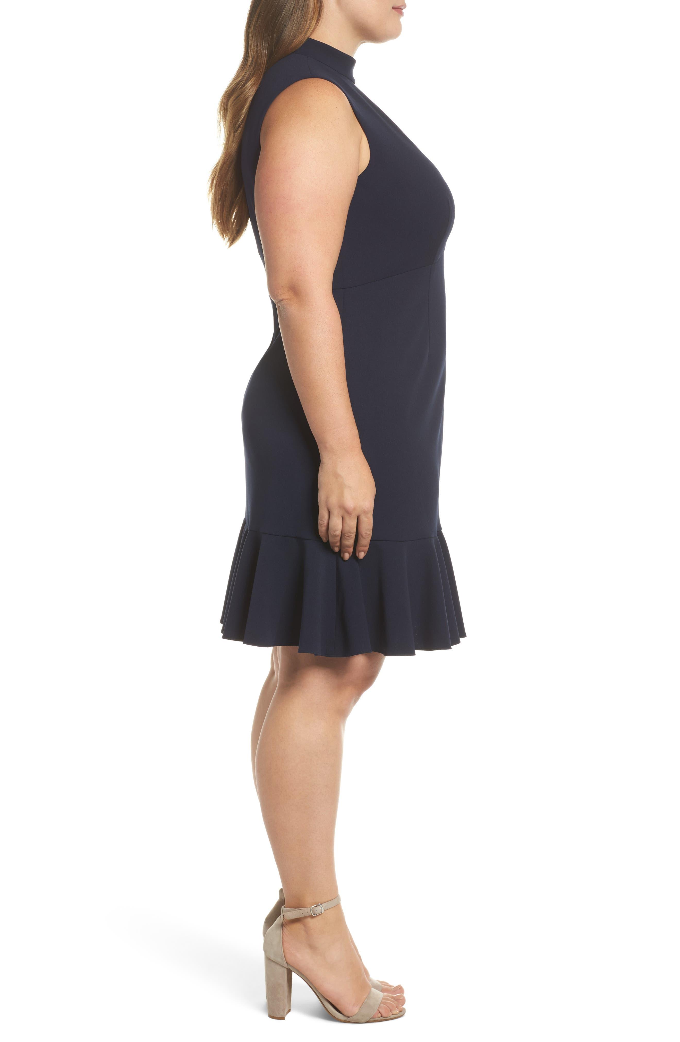 Alternate Image 3  - Chelsea28 Choker Fit & Flare Dress (Plus Size)