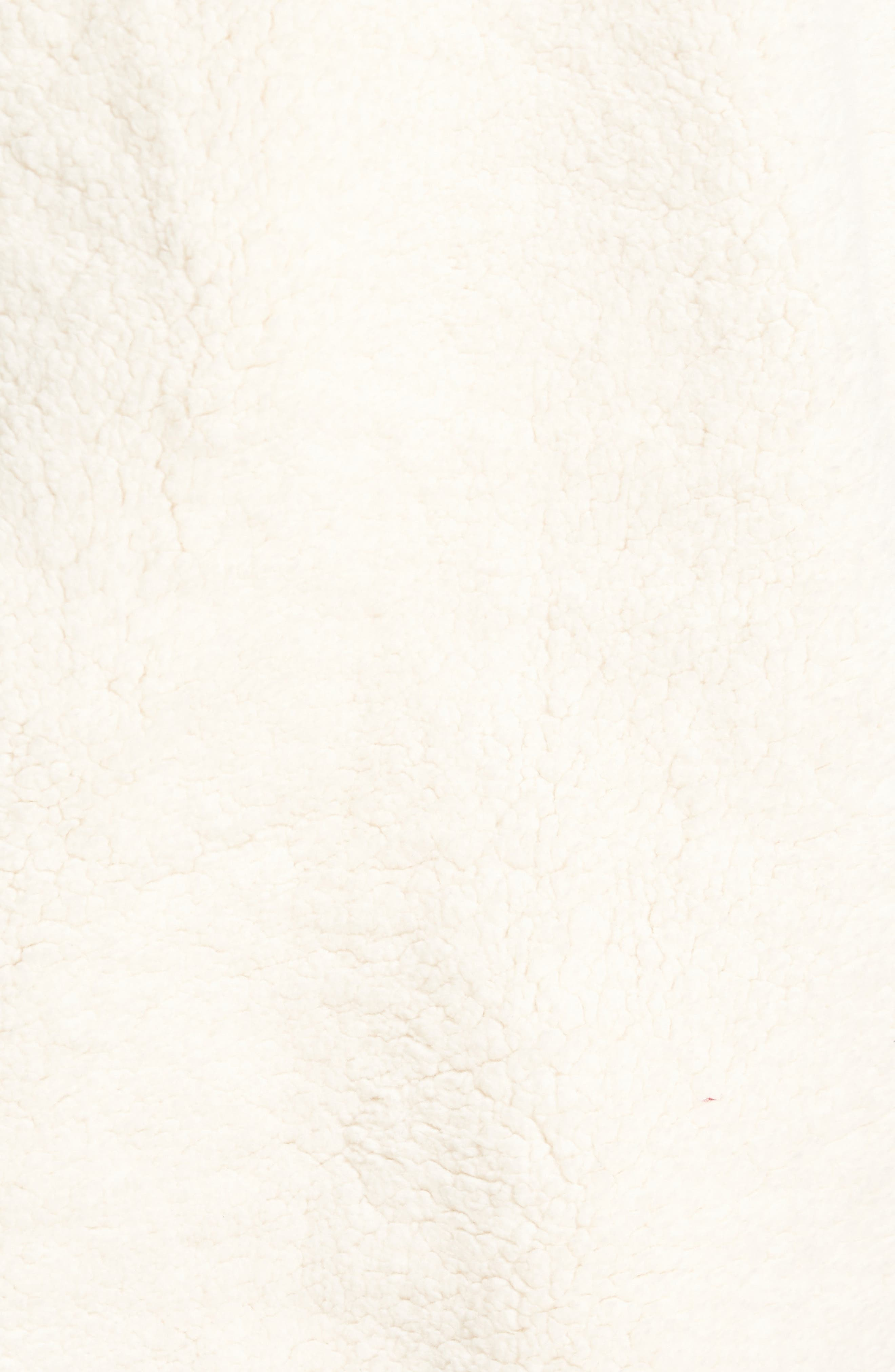 Finlay Fleece Jacket,                             Alternate thumbnail 5, color,                             Gardenia/ Navy/ Chinese Red