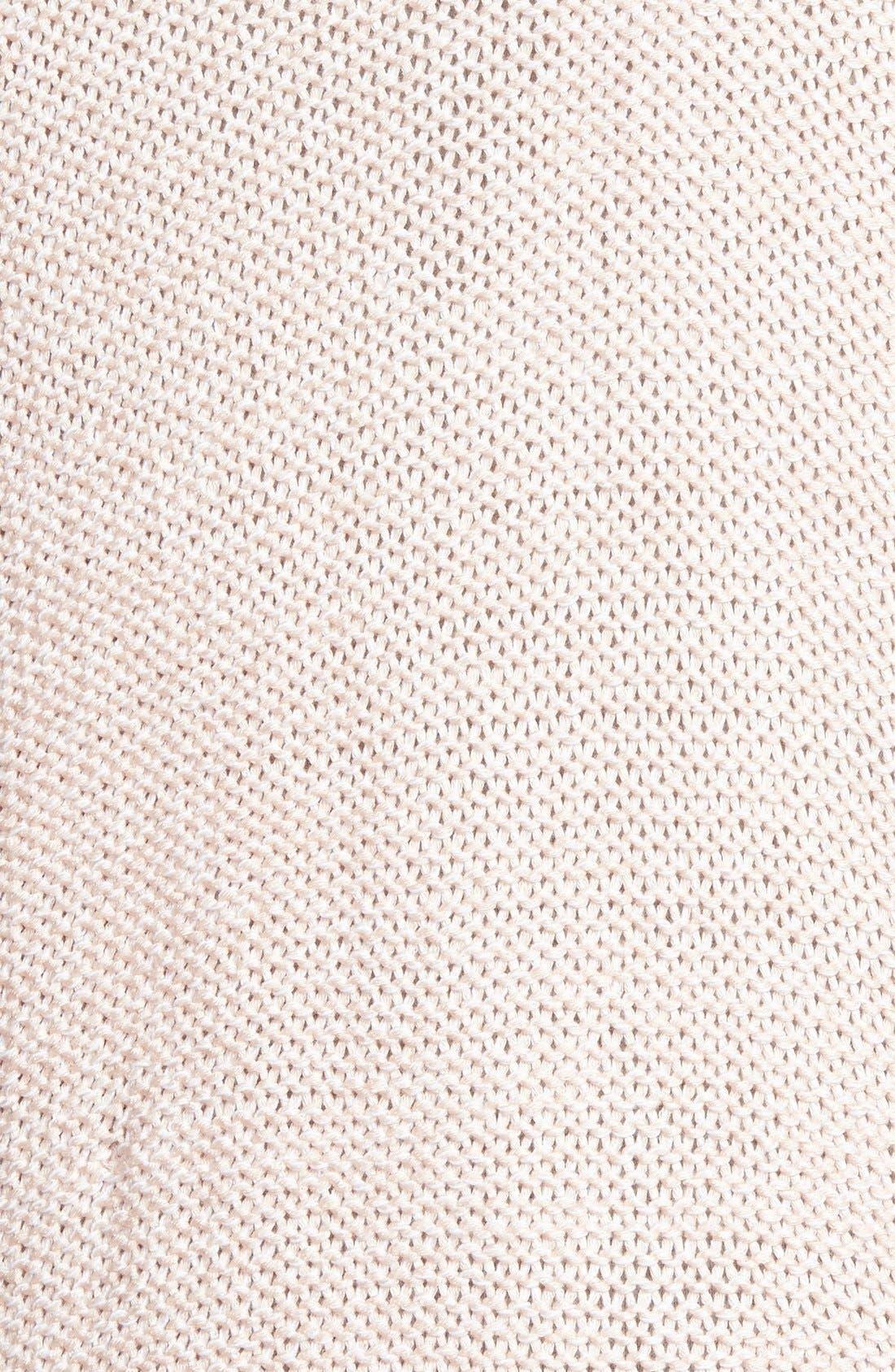 Wrap Front Sweater,                             Alternate thumbnail 3, color,                             Pure Blush Twist