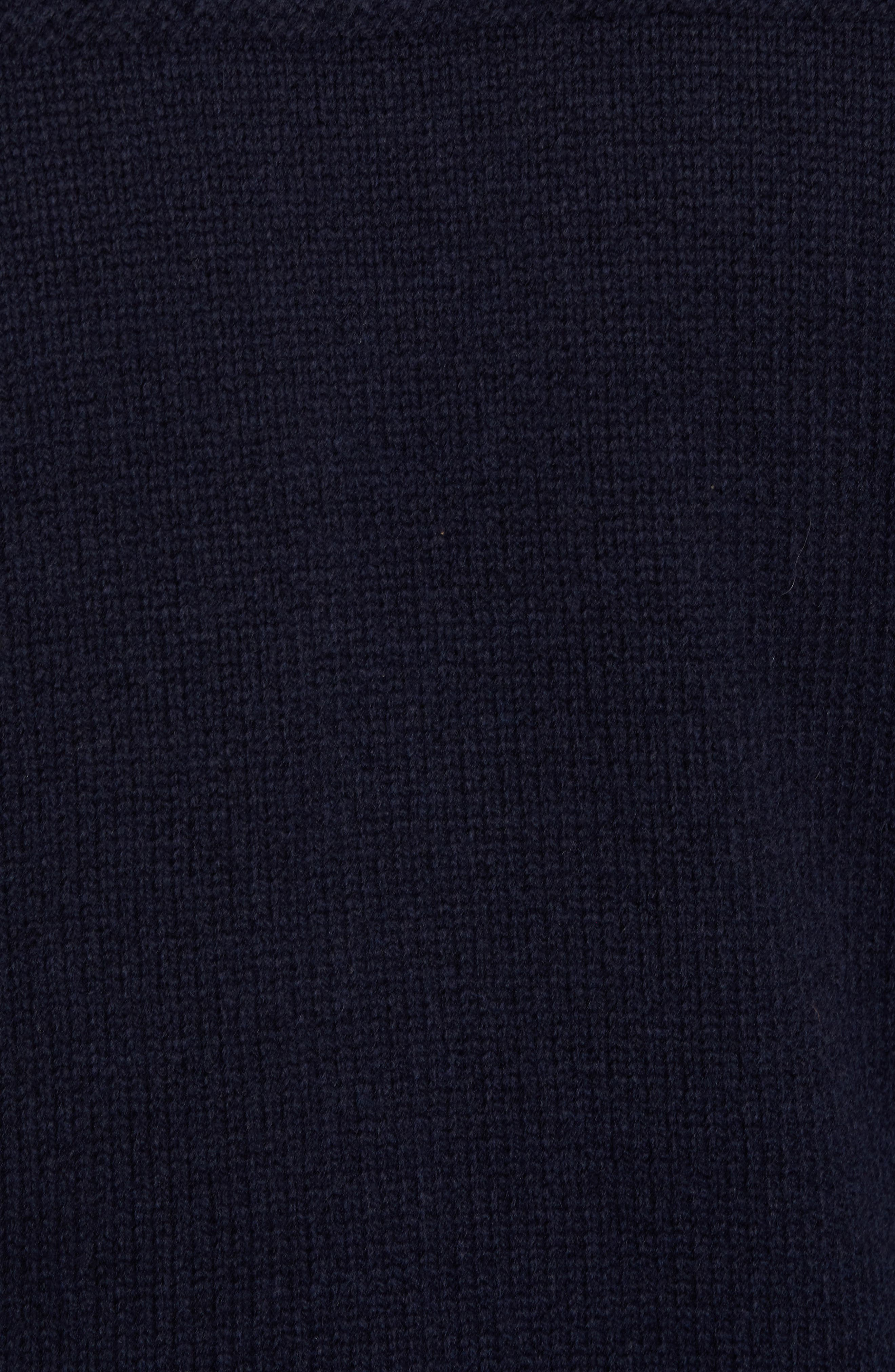 Roll Neck Wool Sweater,                             Alternate thumbnail 5, color,                             Navy