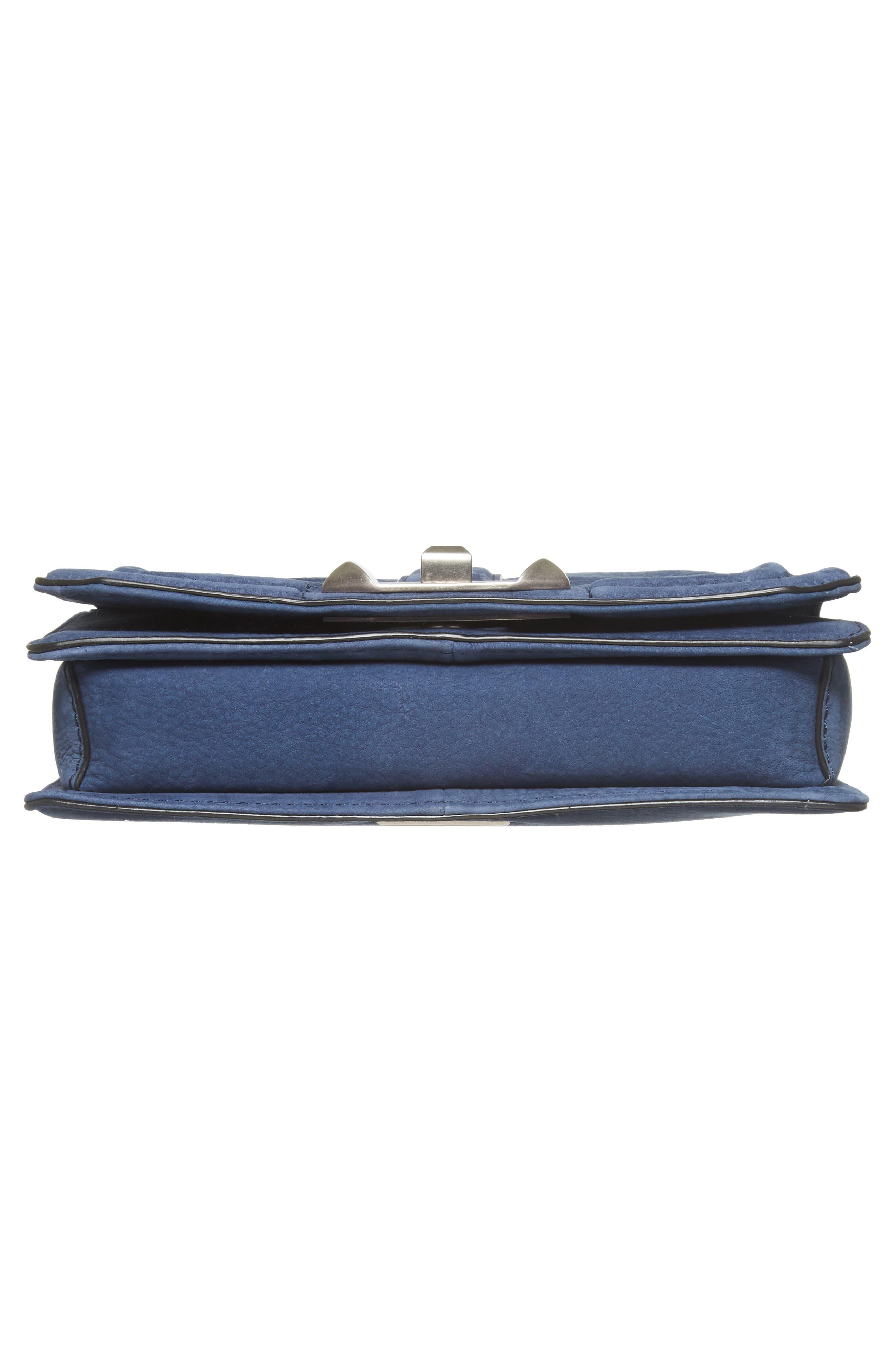 Small Love Nubuck Leather Crossbody Bag,                             Alternate thumbnail 6, color,                             True Navy