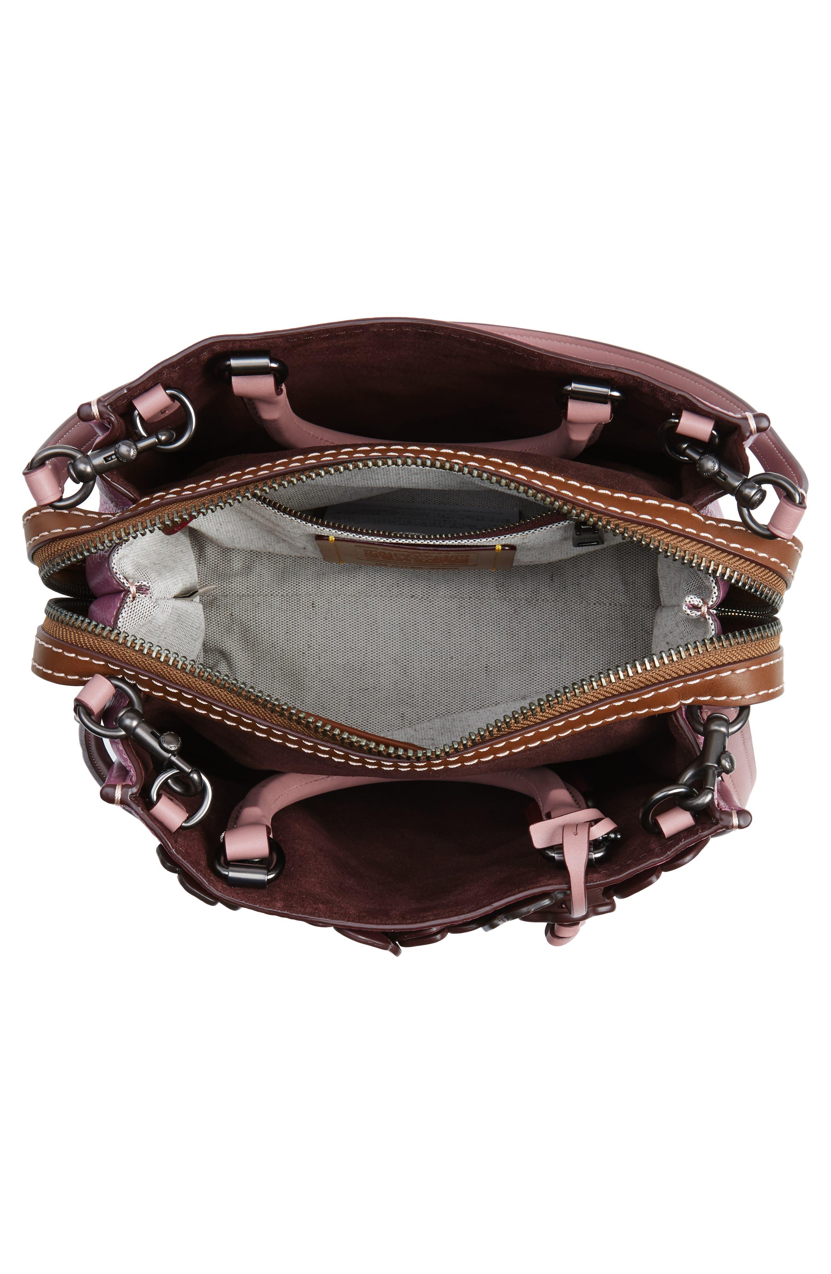 Alternate Image 4  - COACH 1941 Rogue 25 Tea Rose Appliqué Leather Crossbody Bag