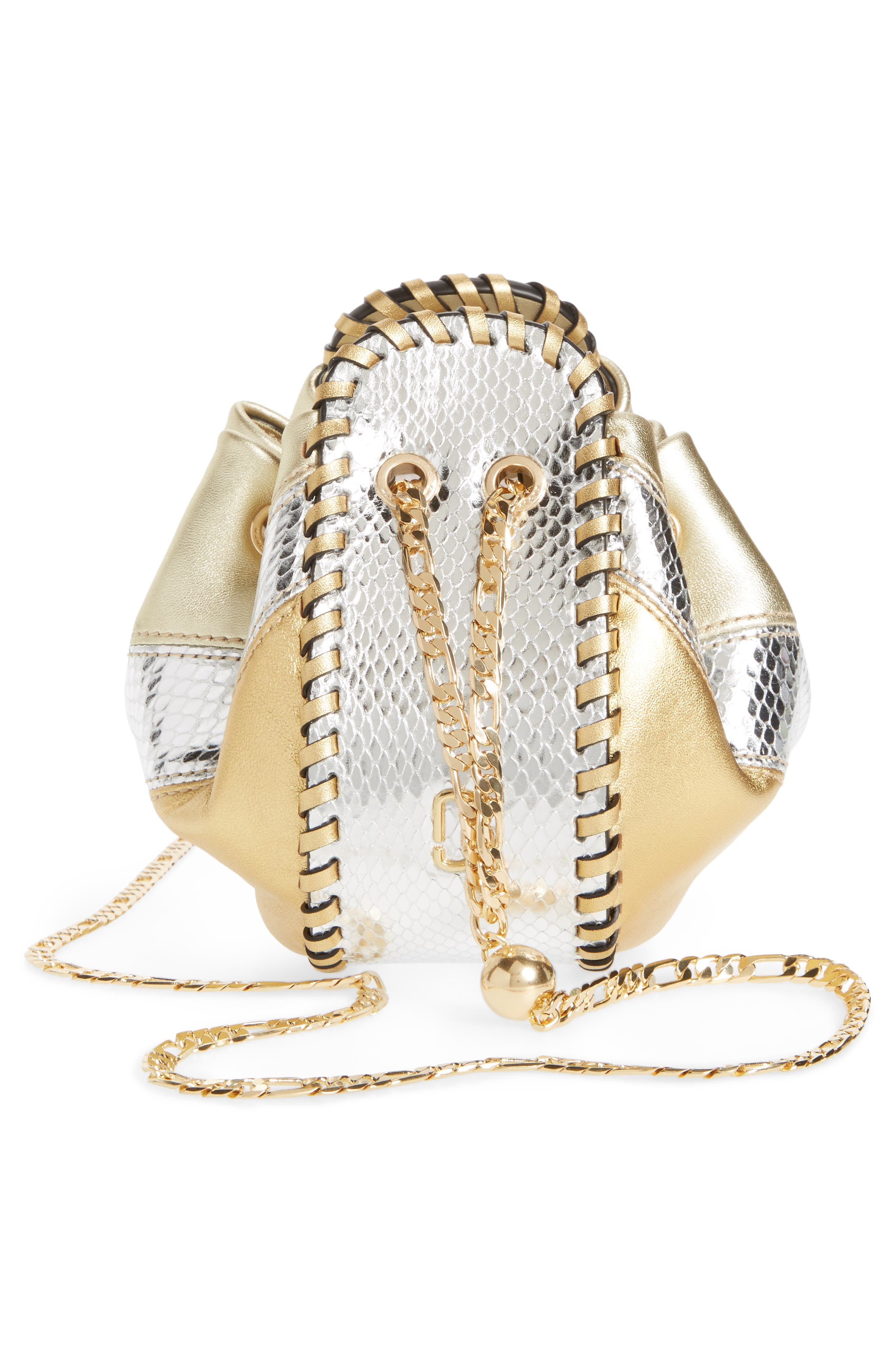 Alternate Image 5  - MARC JACOBS Sway Metallic Leather Crossbody Bag
