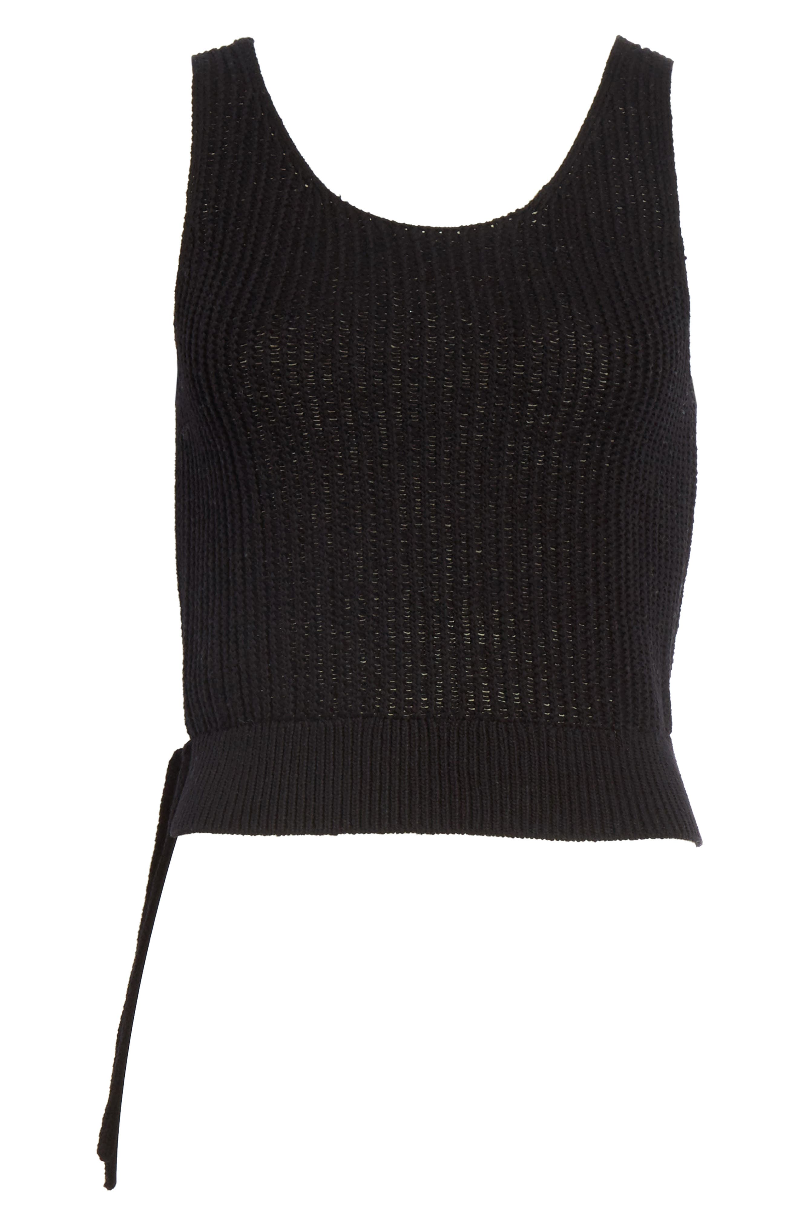 Crossover Back Tank Sweater,                             Alternate thumbnail 6, color,                             Black