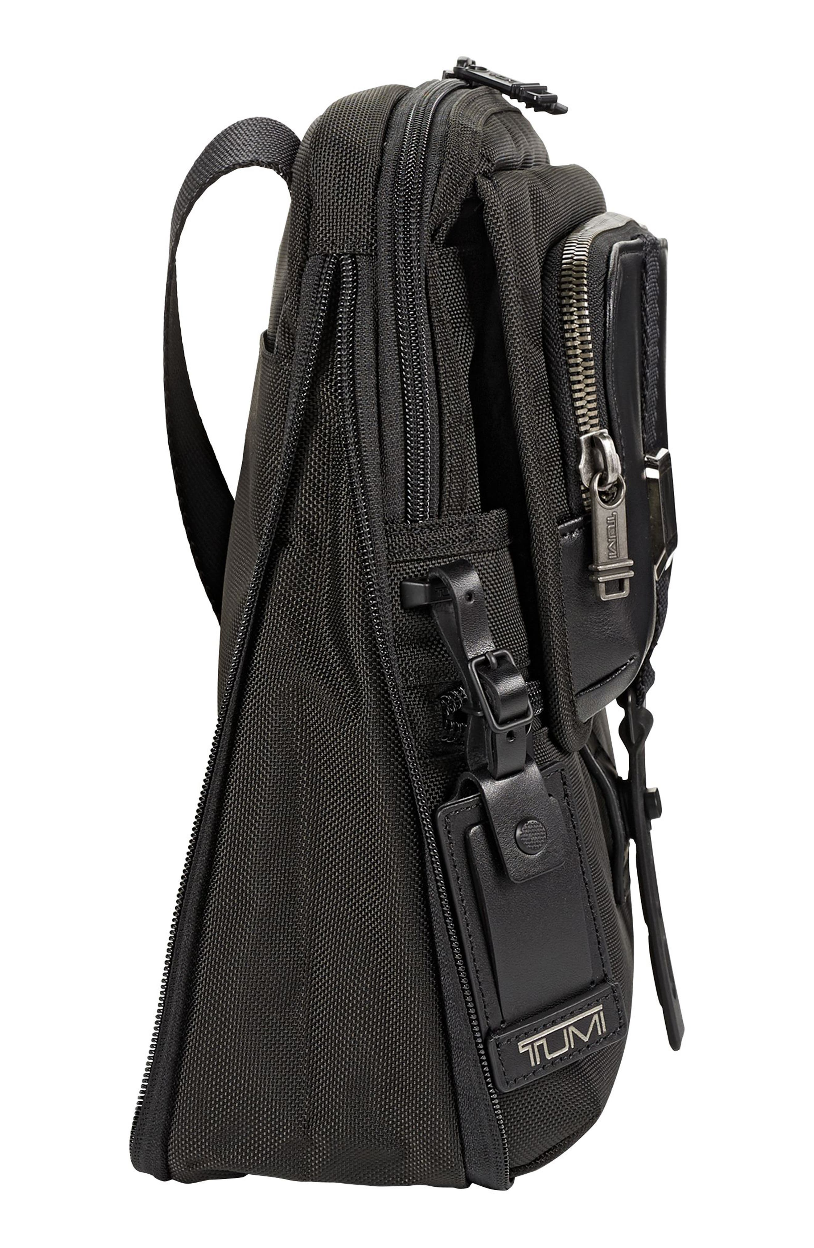 Alpha Bravo - Arnold Messenger Bag,                             Alternate thumbnail 5, color,                             Black