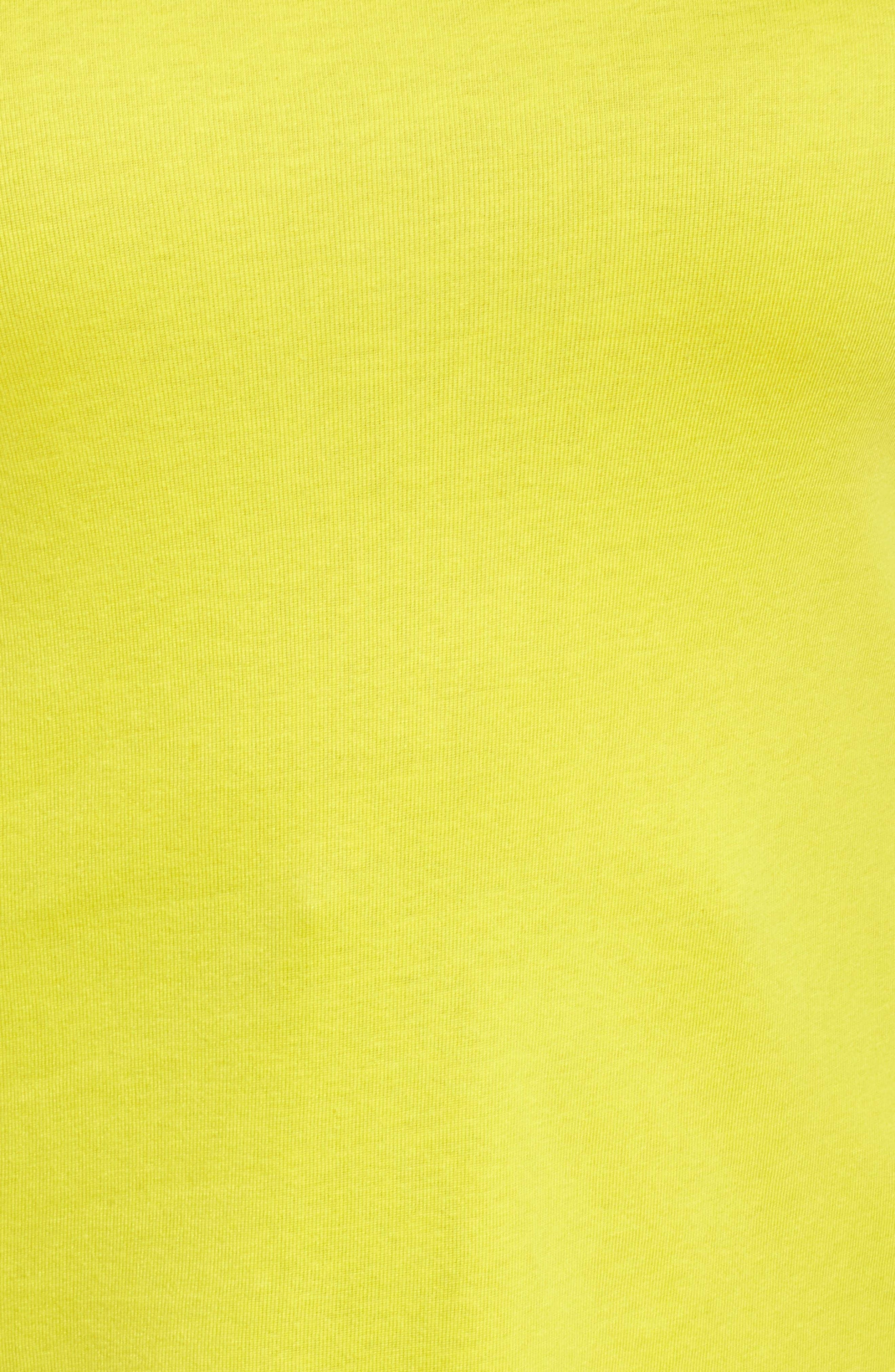Alternate Image 5  - Sejour Ballet Neck Rib Knit Tee (Plus Size)