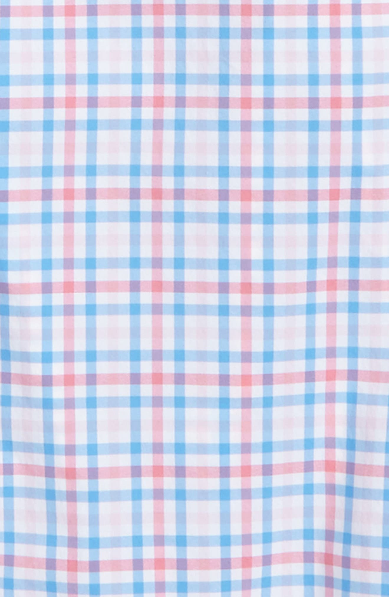 Gulf Shore Gingham Performance Shirt,                             Alternate thumbnail 2, color,                             Bahama Breeze