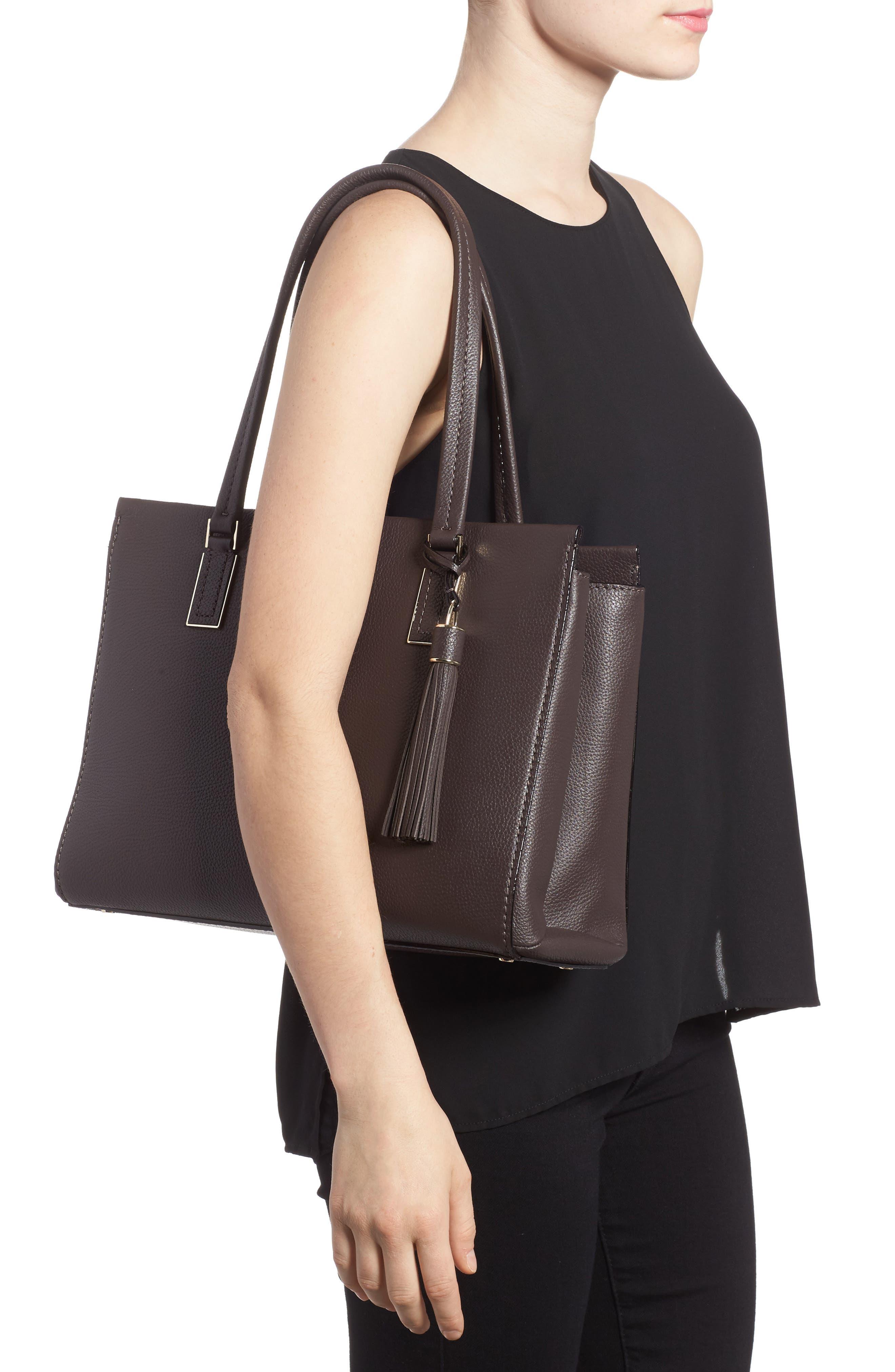 kingston drive - bartlett leather satchel,                             Alternate thumbnail 2, color,                             Morning Black