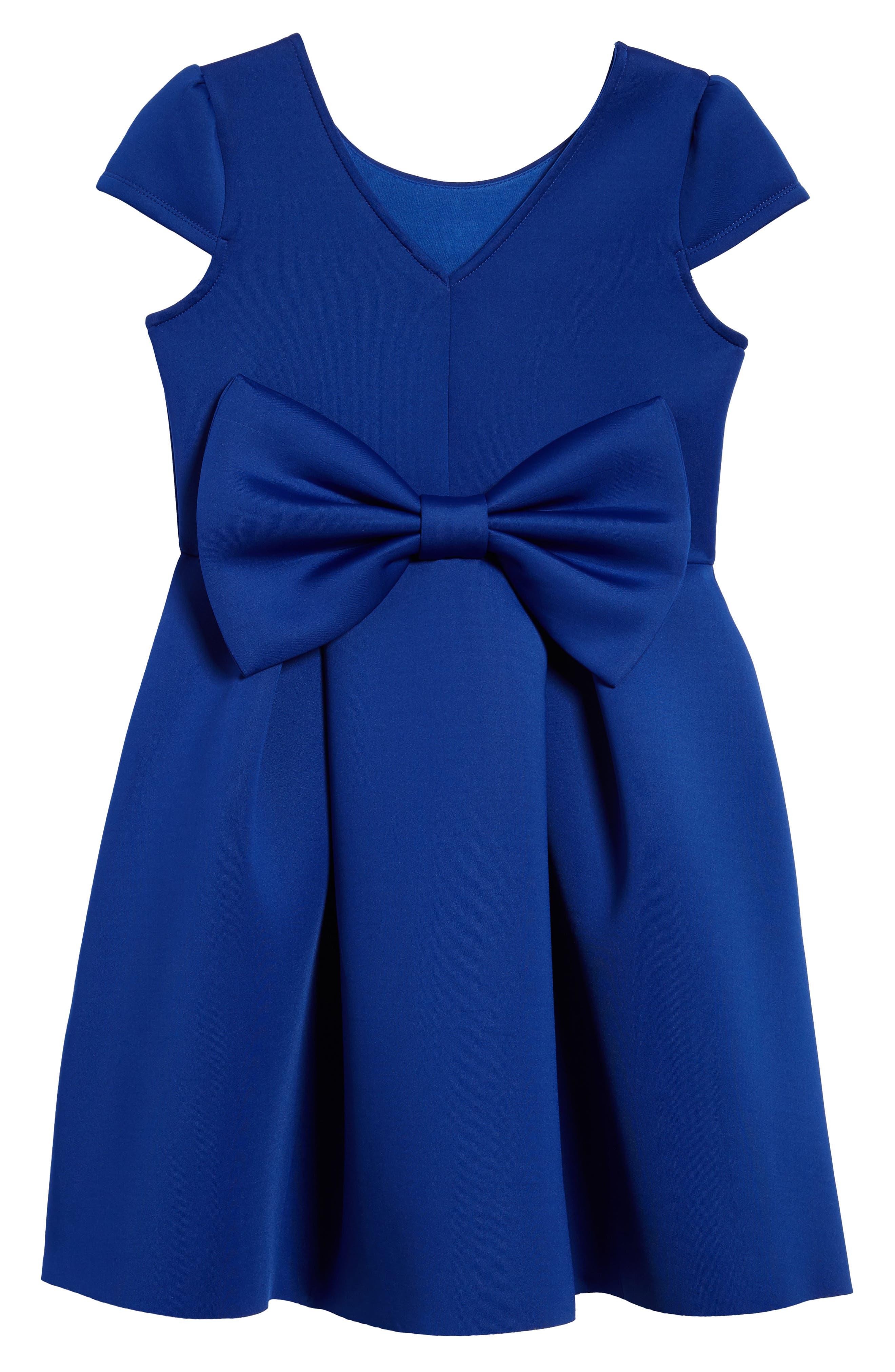 Embellished Scuba Dress,                             Alternate thumbnail 2, color,                             Royal