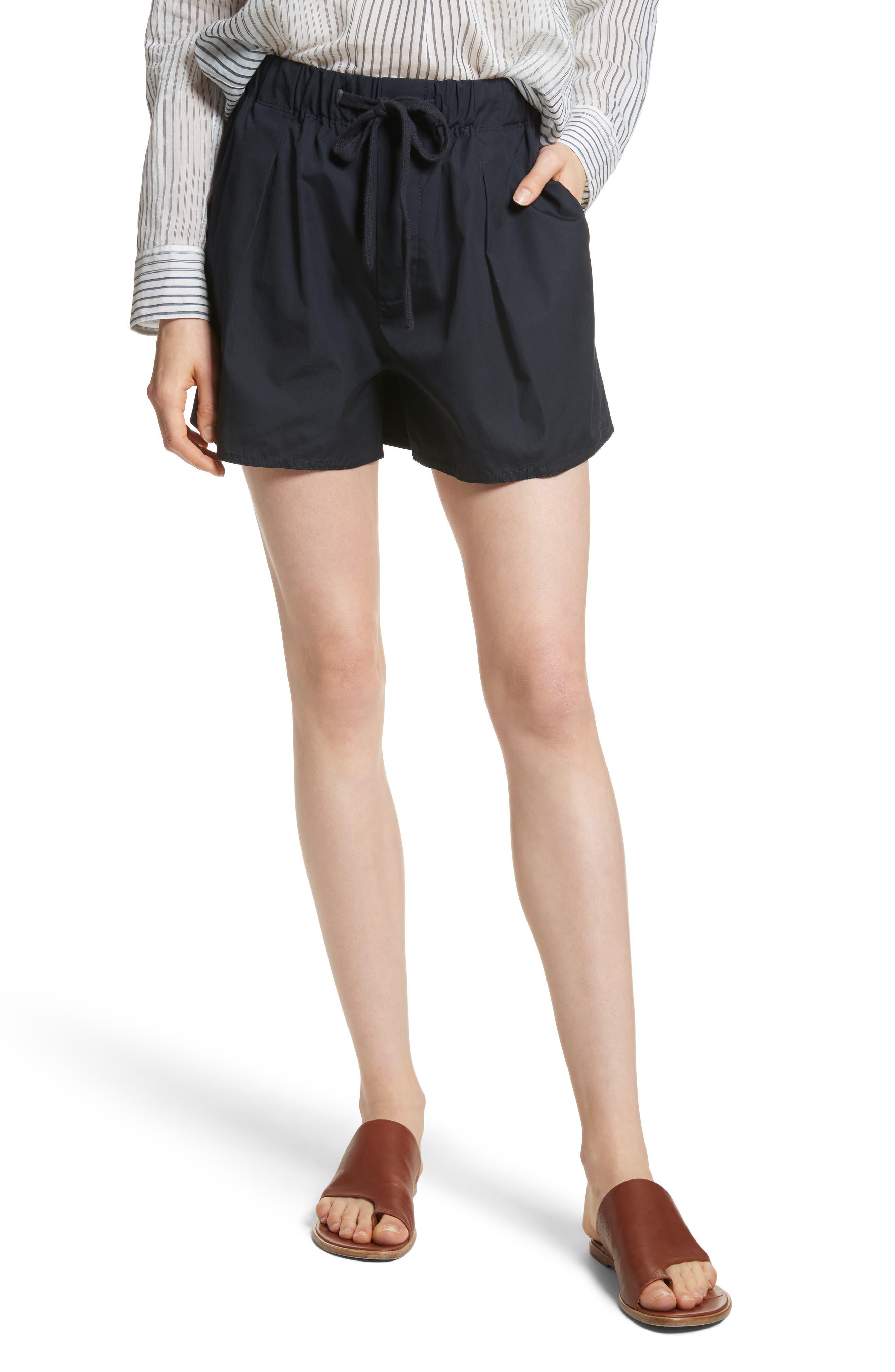Alternate Image 1 Selected - Vince Drawstring Cotton Shorts