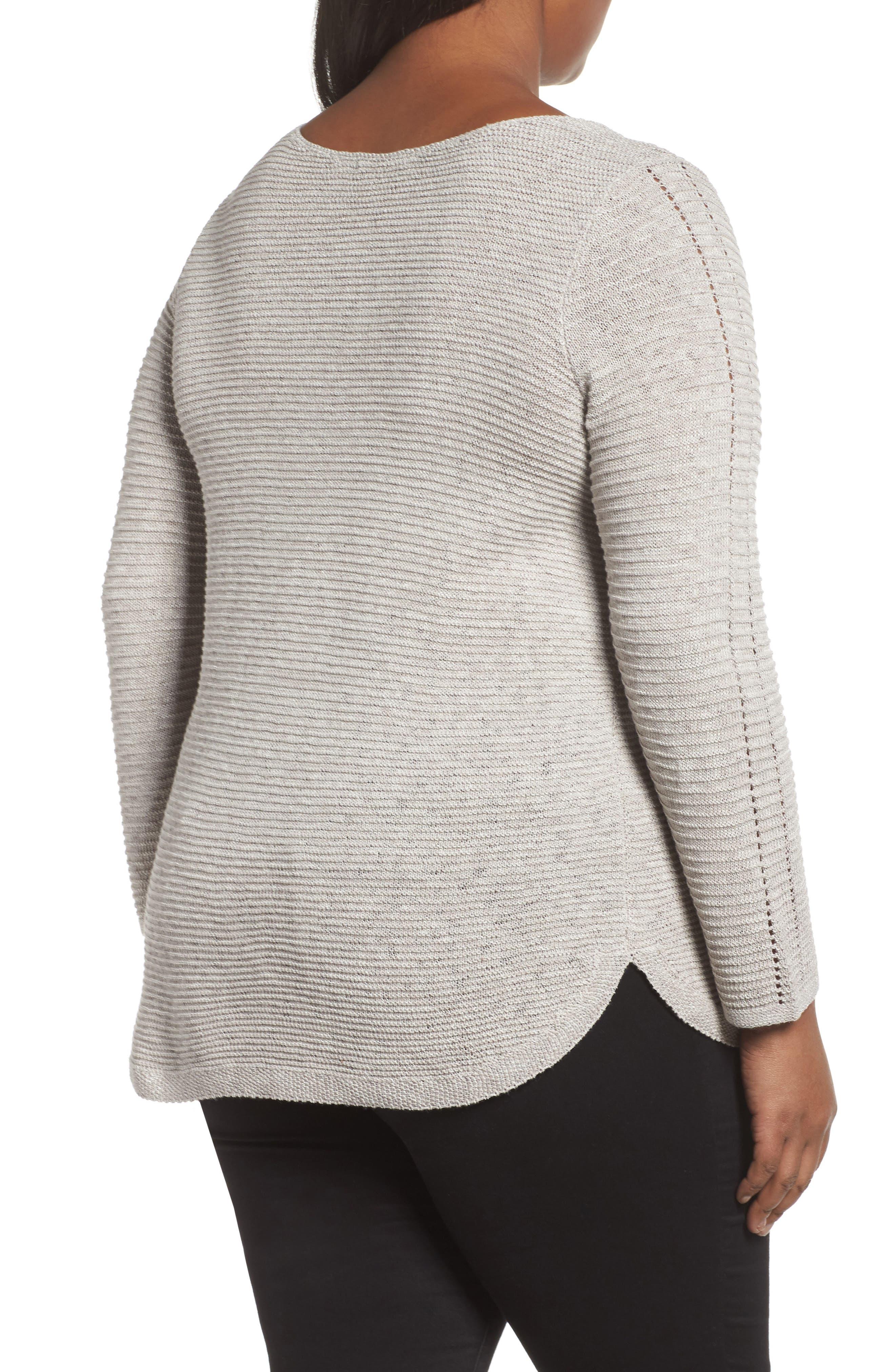 Alternate Image 2  - NIC+ZOE Braided Up Sweater (Plus Size)
