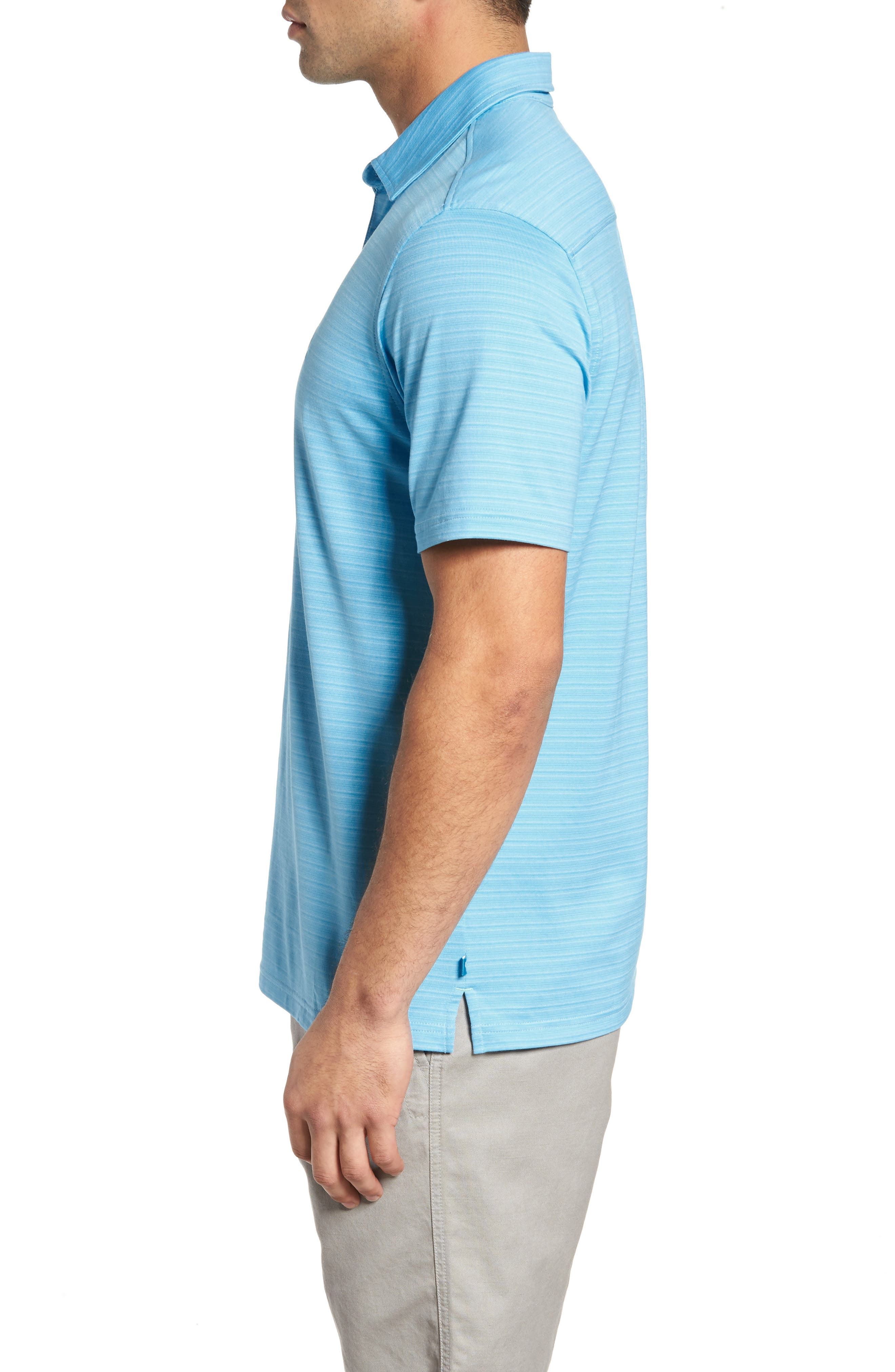 New On Par Stripe Polo,                             Alternate thumbnail 3, color,                             Breeze Blue