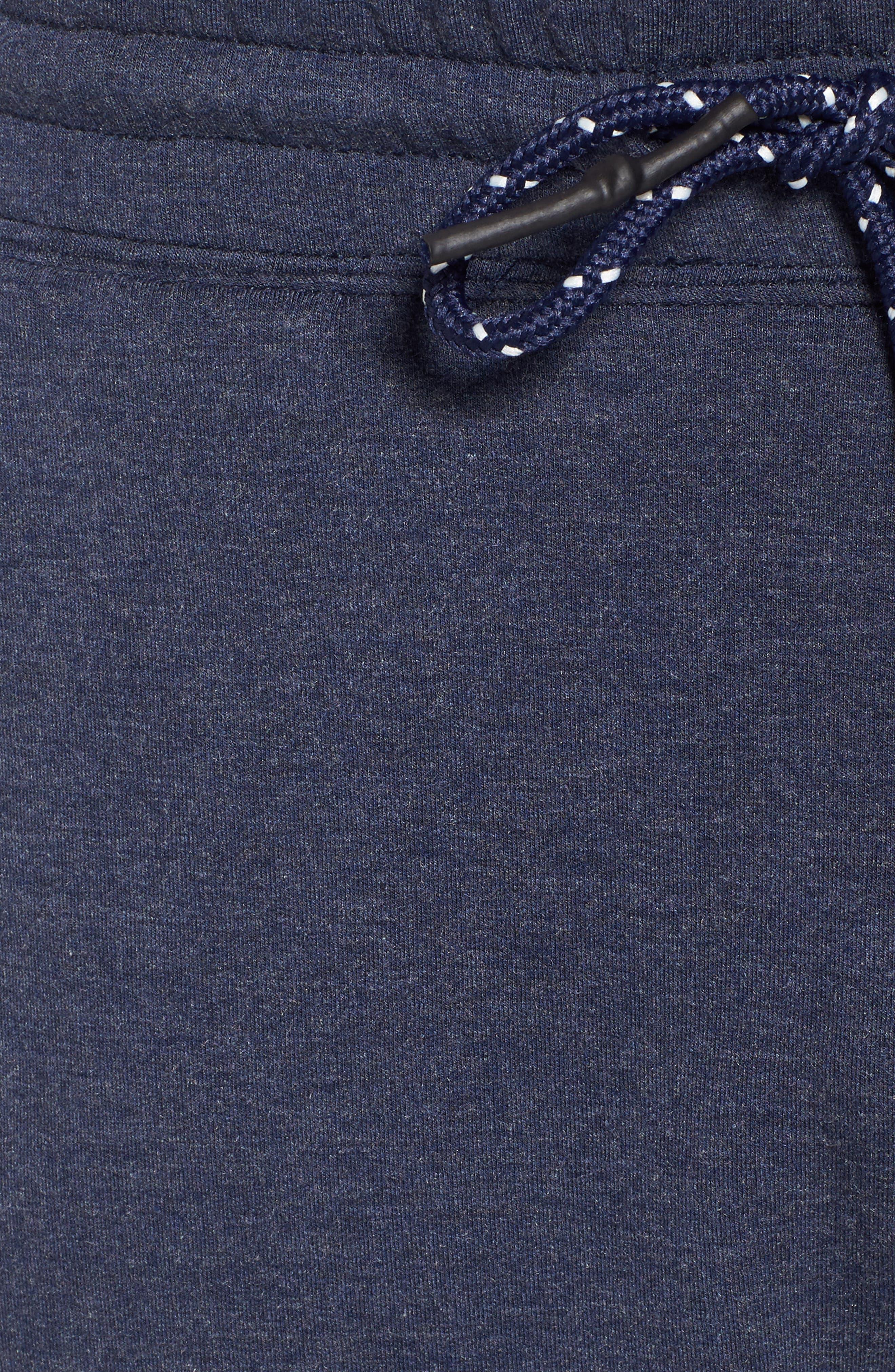 Brushback Fleece Shorts,                             Alternate thumbnail 5, color,                             Navy Heather