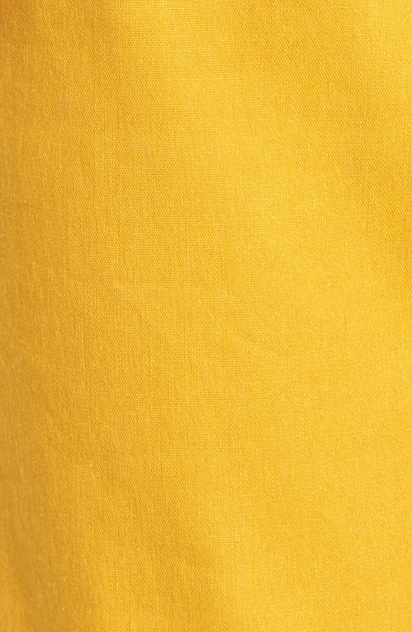 Pleat Front Crop Pants,                             Alternate thumbnail 6, color,                             Yellow Mineral