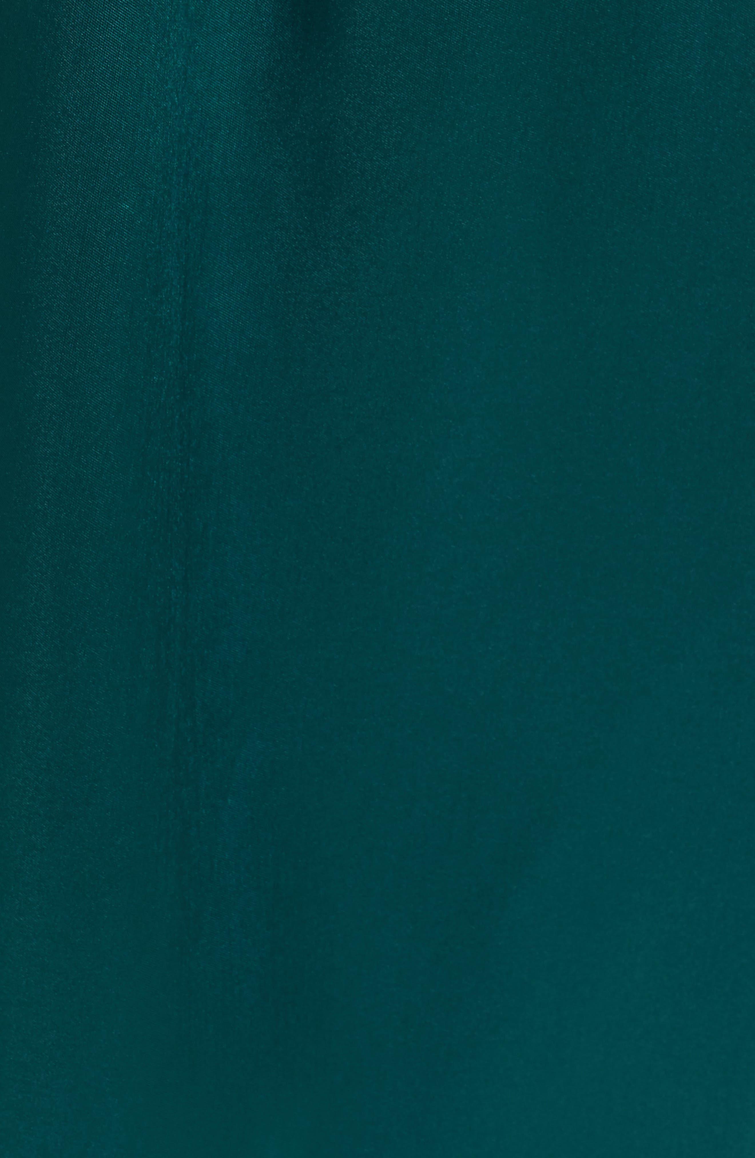 Off the Shoulder Ballgown,                             Alternate thumbnail 5, color,                             Emerald