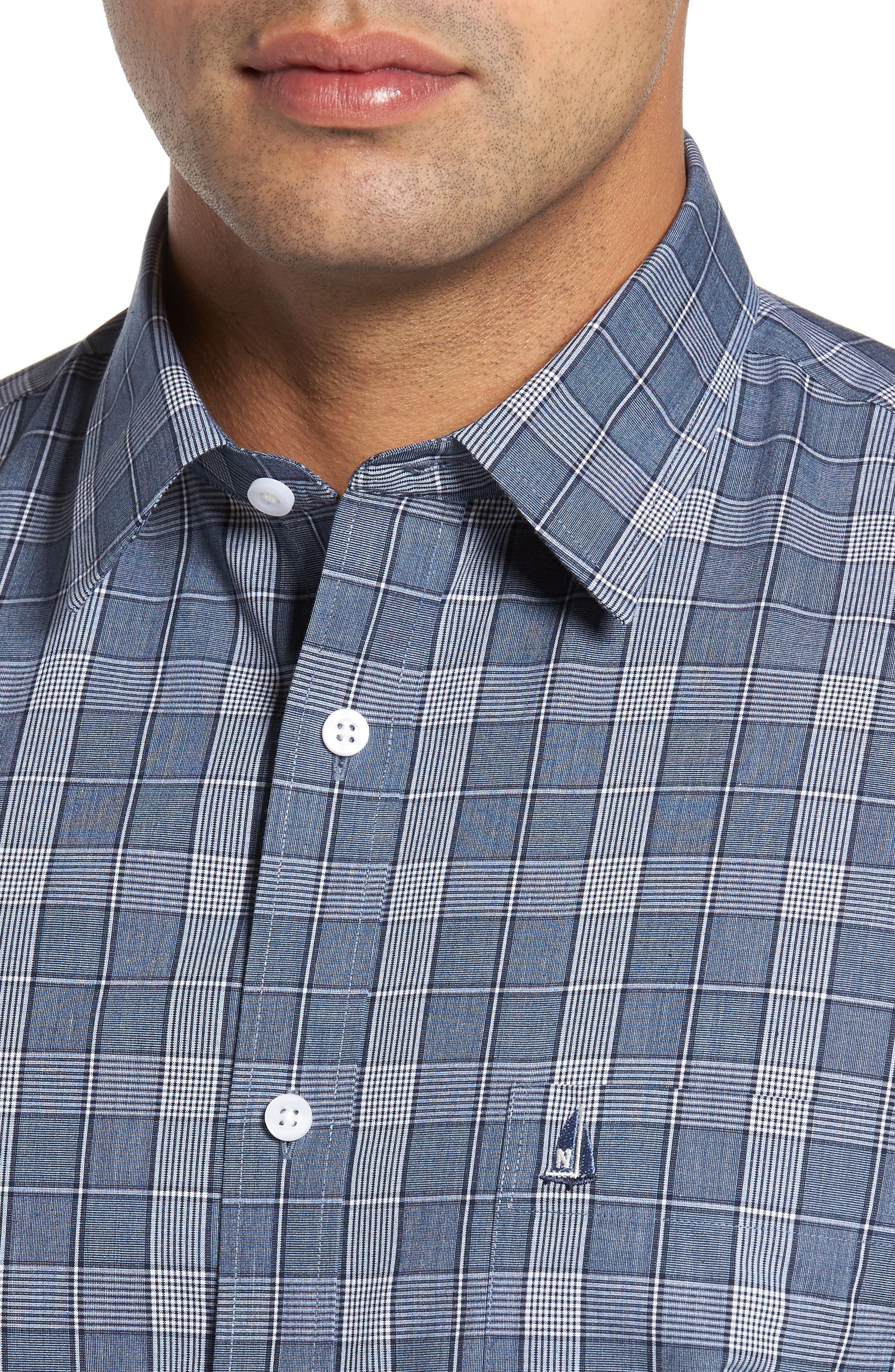 Alternate Image 4  - Nordstrom Men's Shop Non-Iron Spade Plaid Sport Shirt