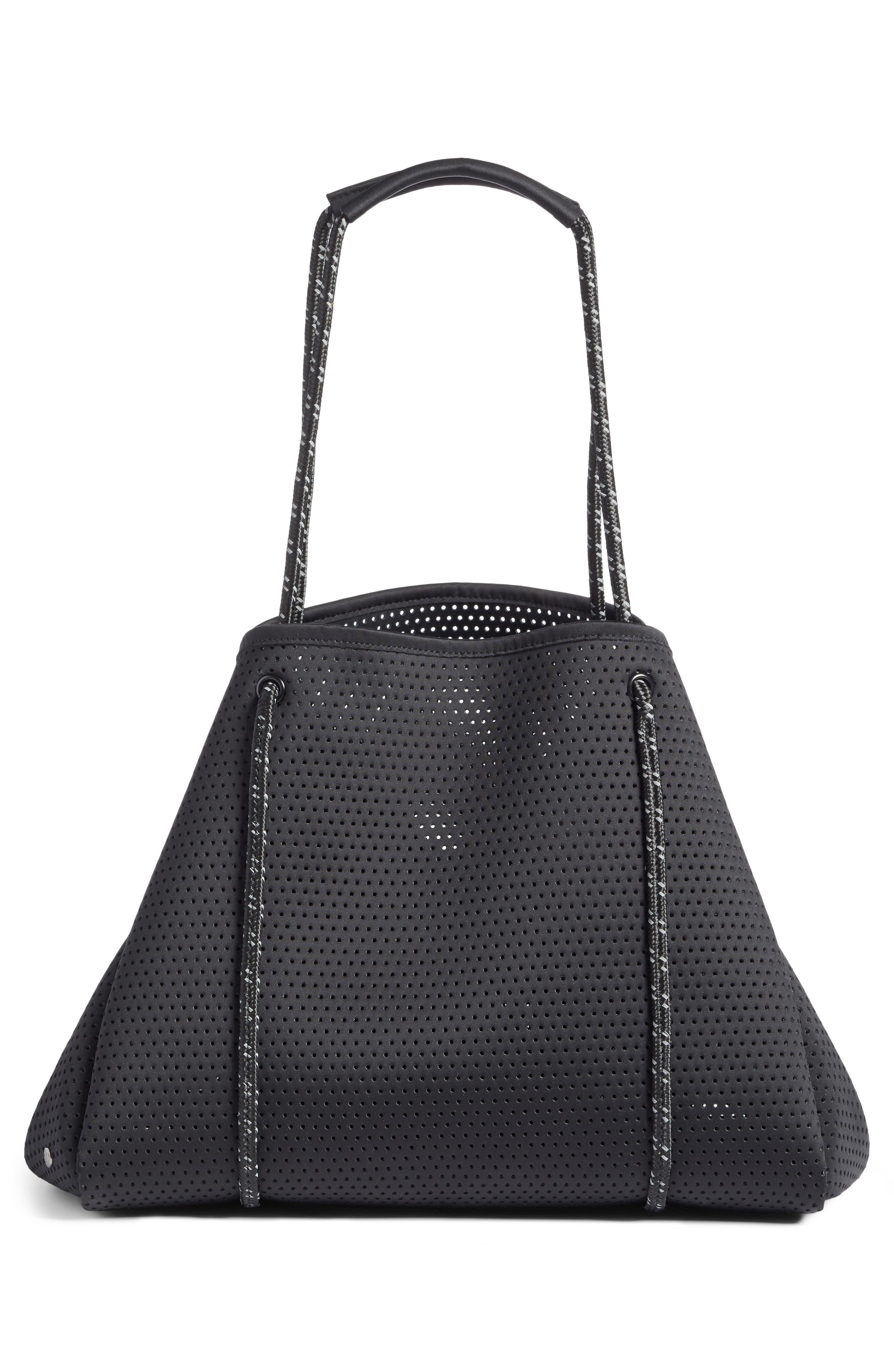 Perforated Tote Bag,                             Alternate thumbnail 3, color,                             Black