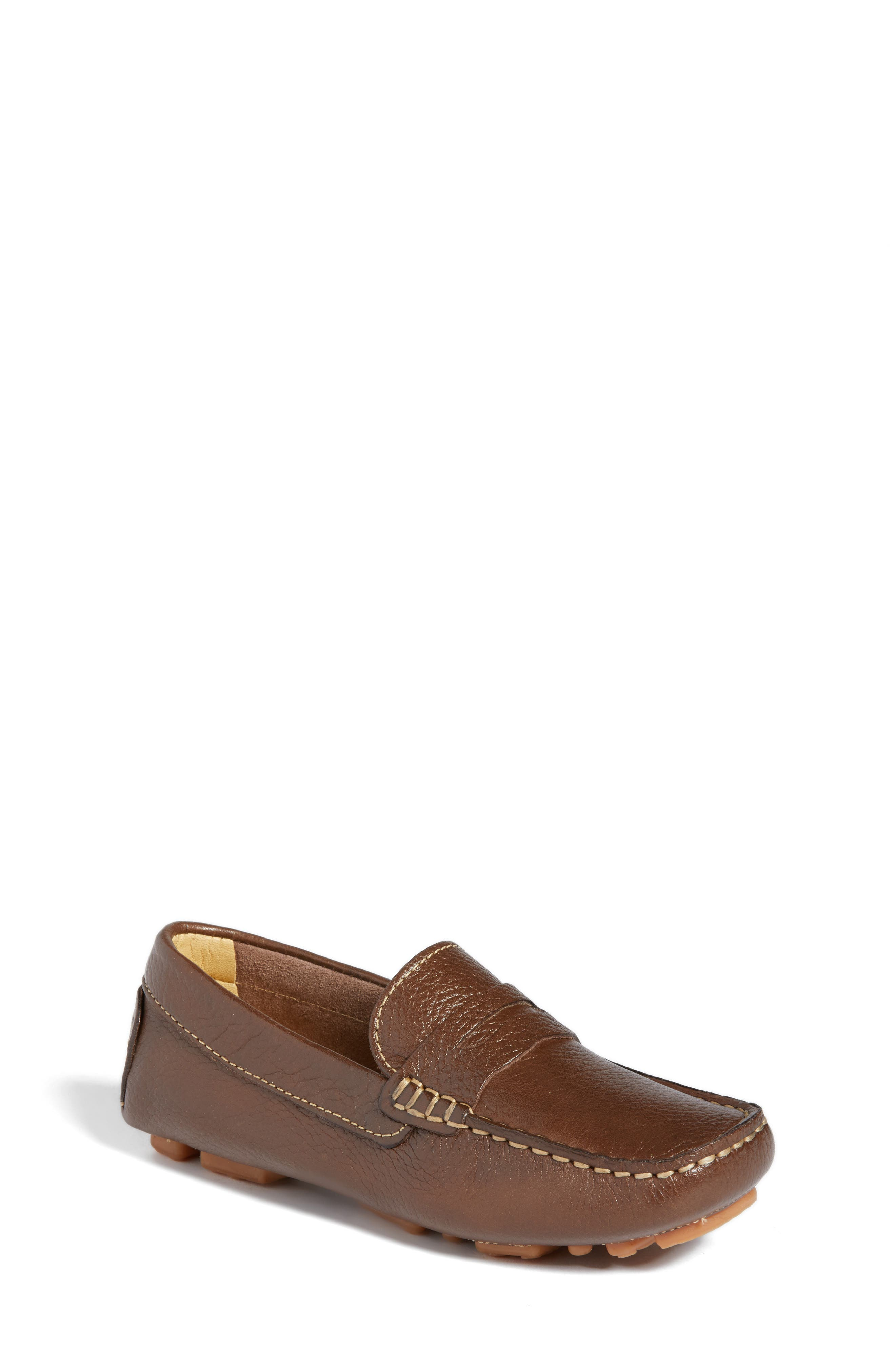 Matteo Moccasin,                         Main,                         color, Brown Leather