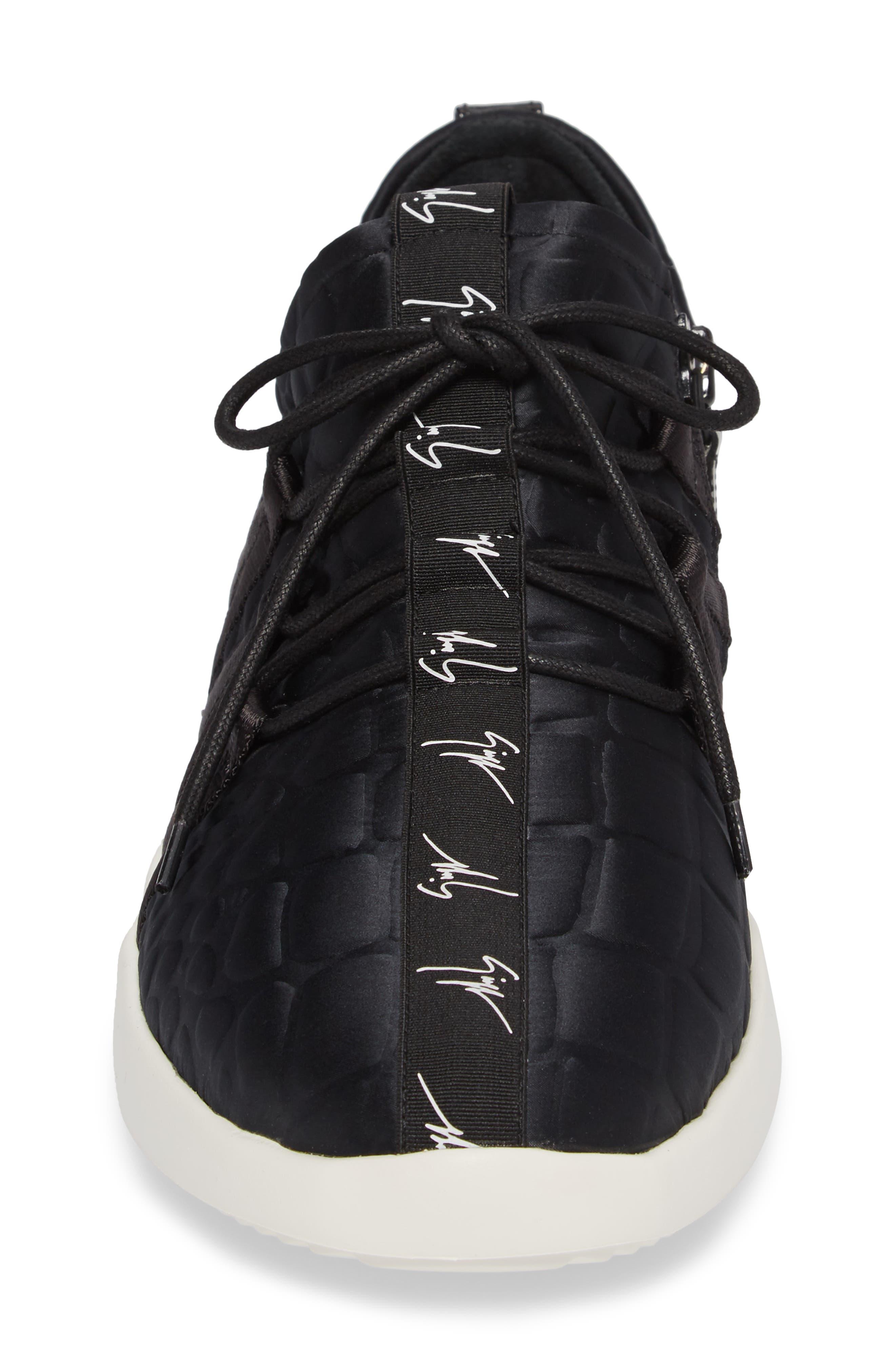 Sneaker,                             Alternate thumbnail 4, color,                             Black