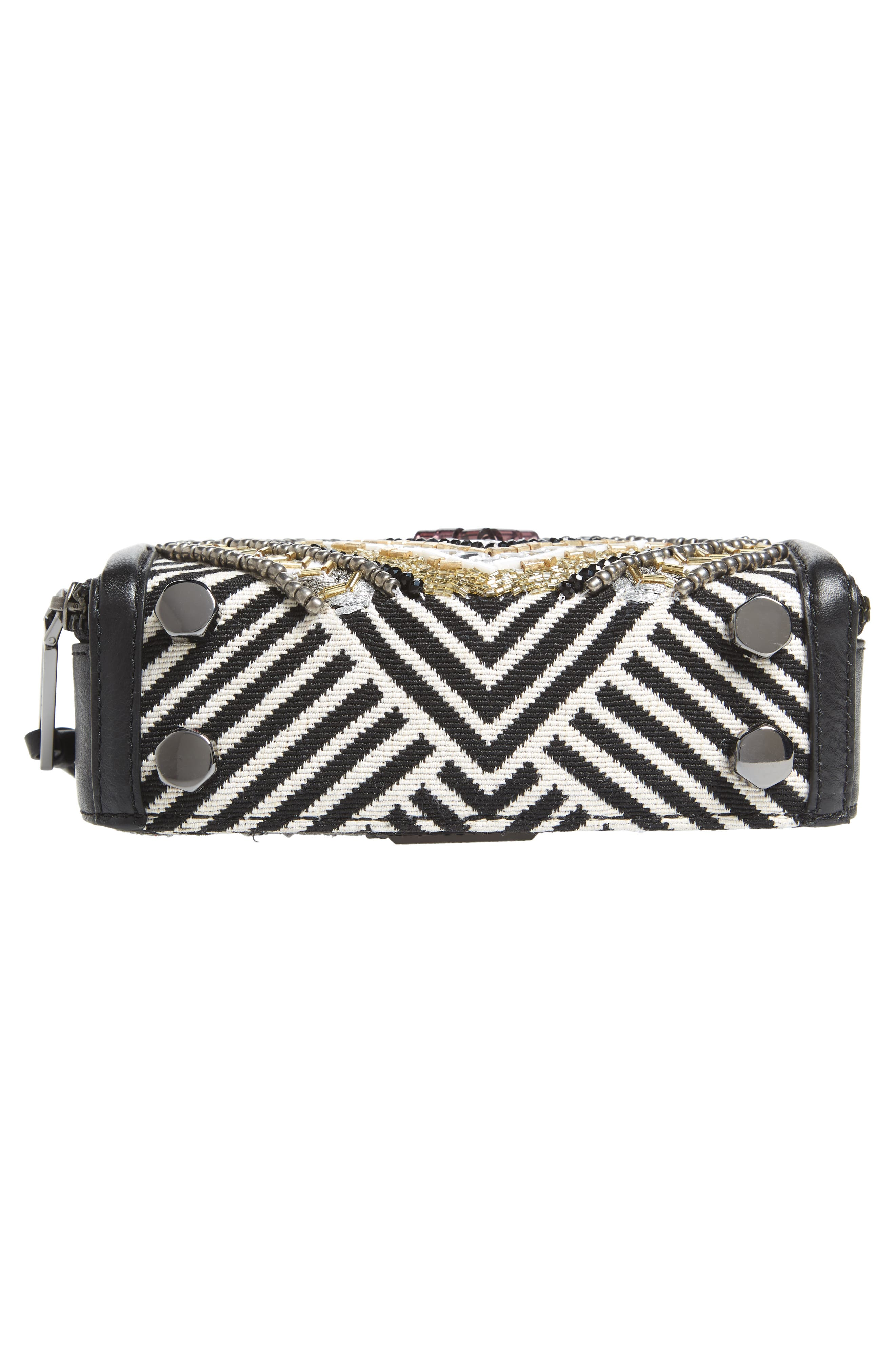 Wonder Box Embellished Crossbody Bag,                             Alternate thumbnail 6, color,                             Black Metallic Multi