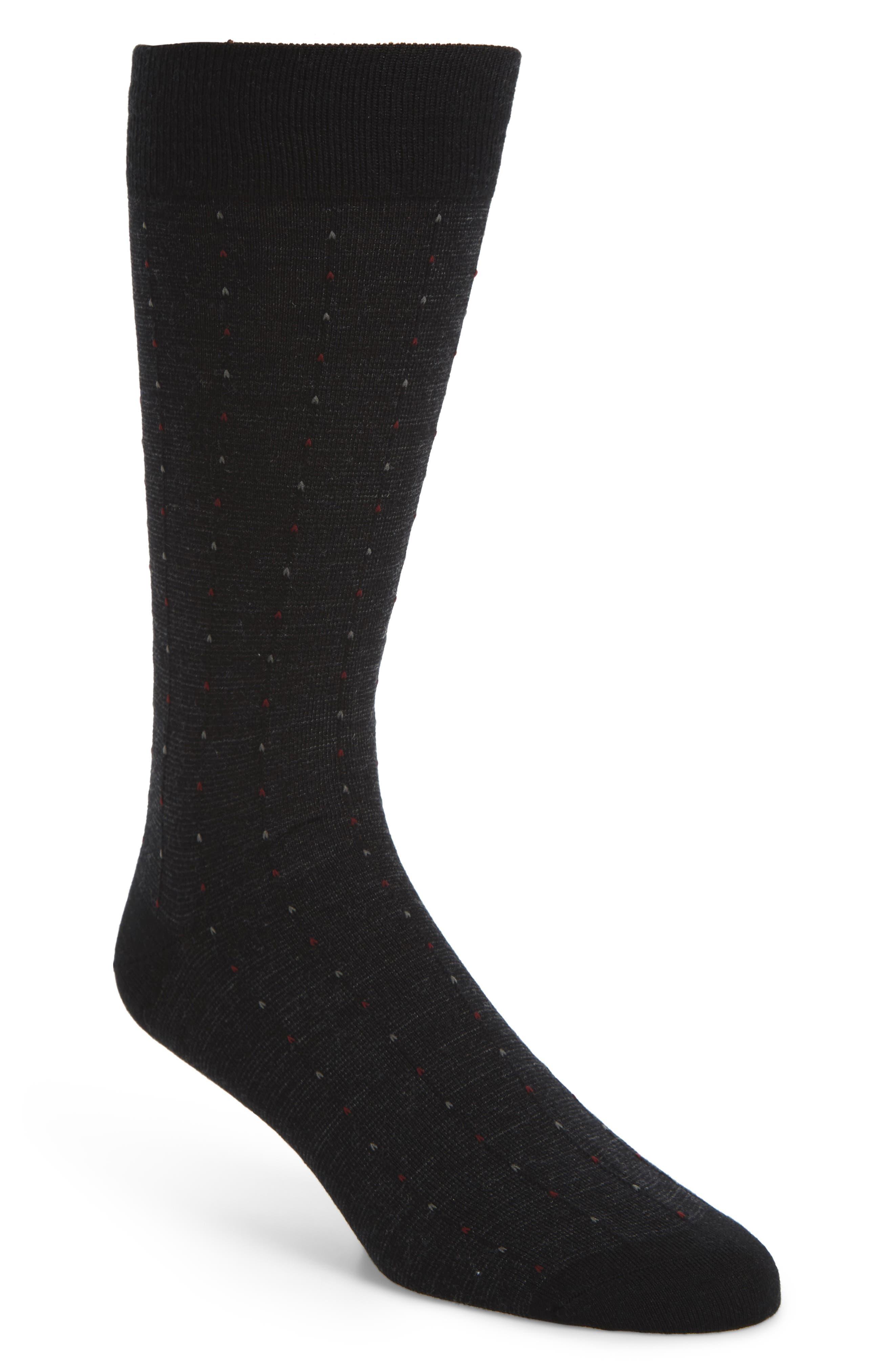 Feeder Pinstripe Socks,                             Main thumbnail 1, color,                             Black