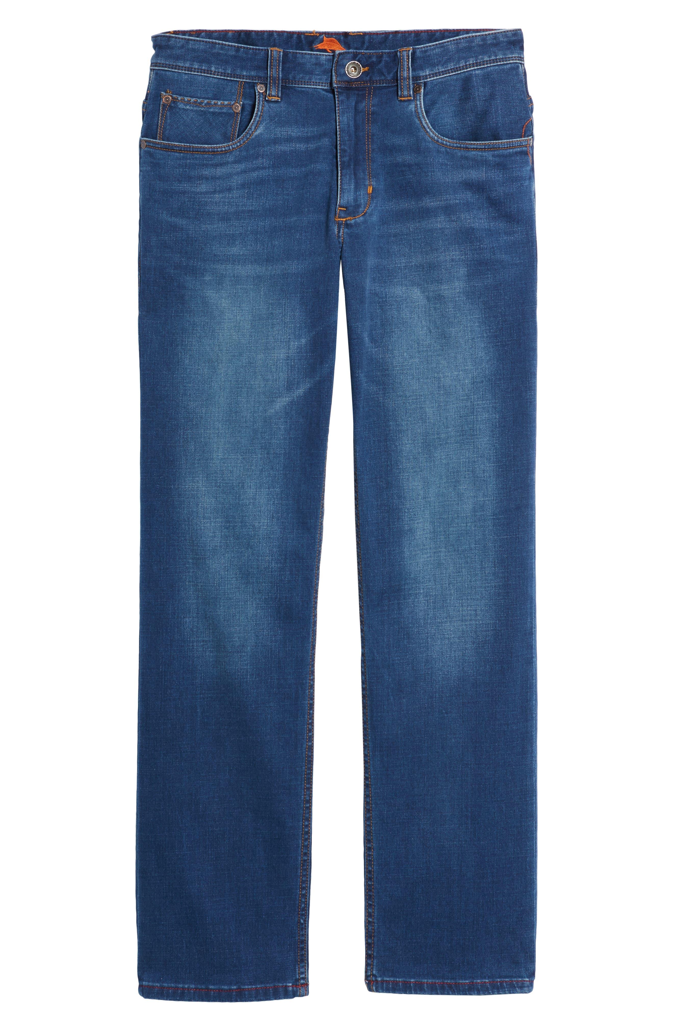 Caicos Authentic Fit Jeans,                             Alternate thumbnail 6, color,                             Medium Indigo