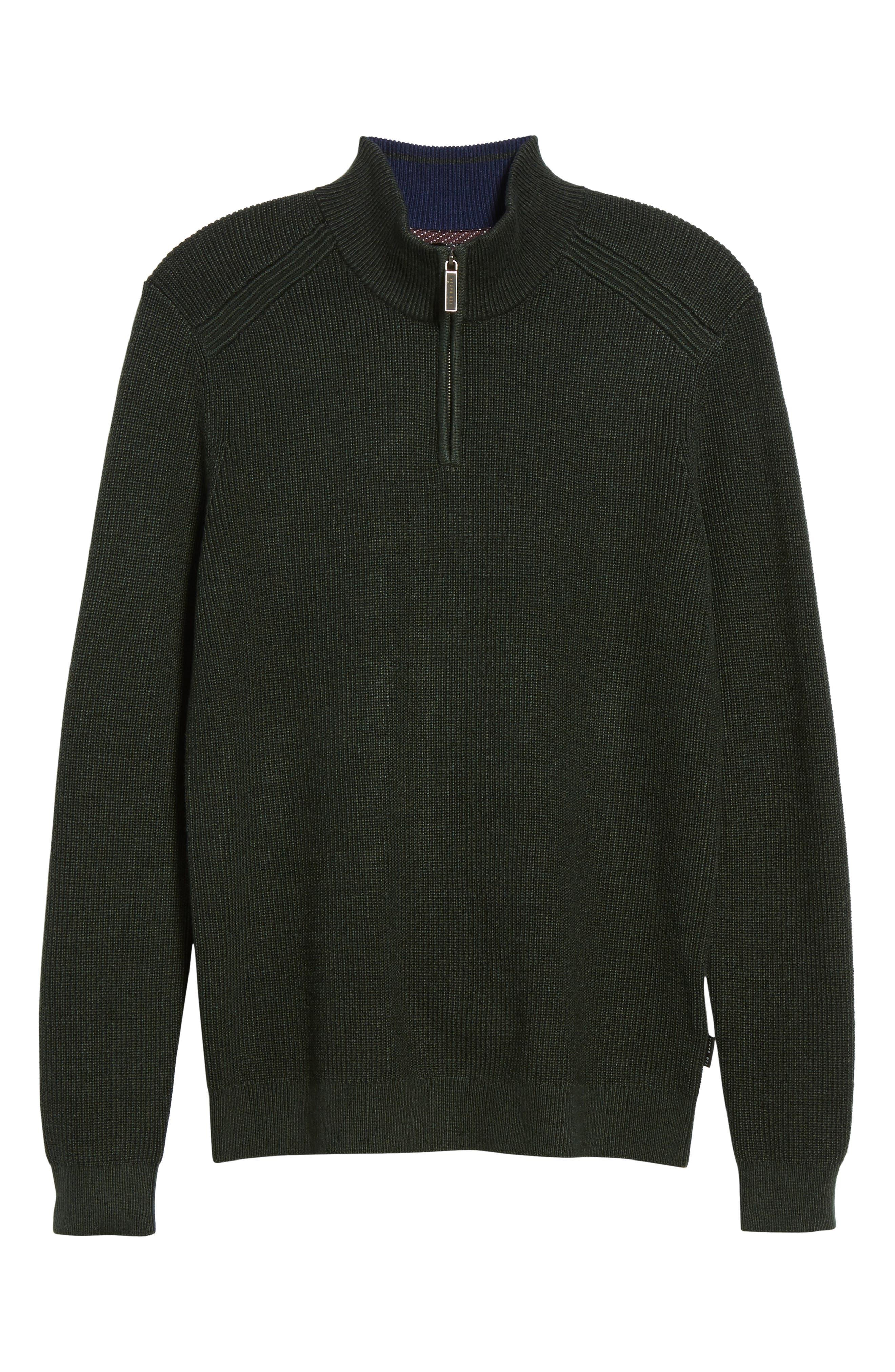 Stach Quarter Zip Sweater,                         Main,                         color, Dark Green