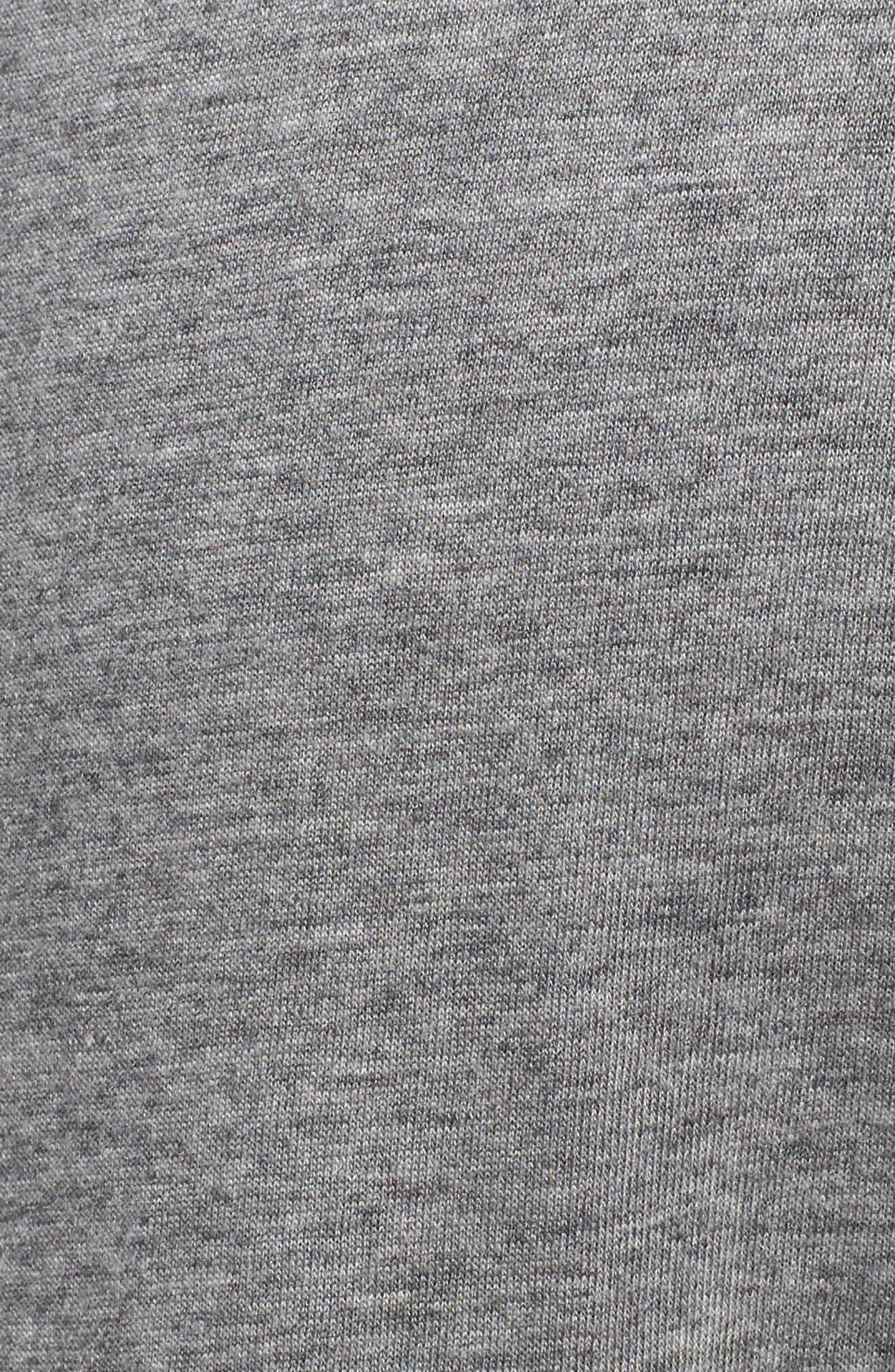 Pima Cotton & Modal Lounge Pants,                             Alternate thumbnail 5, color,                             Grey Heather
