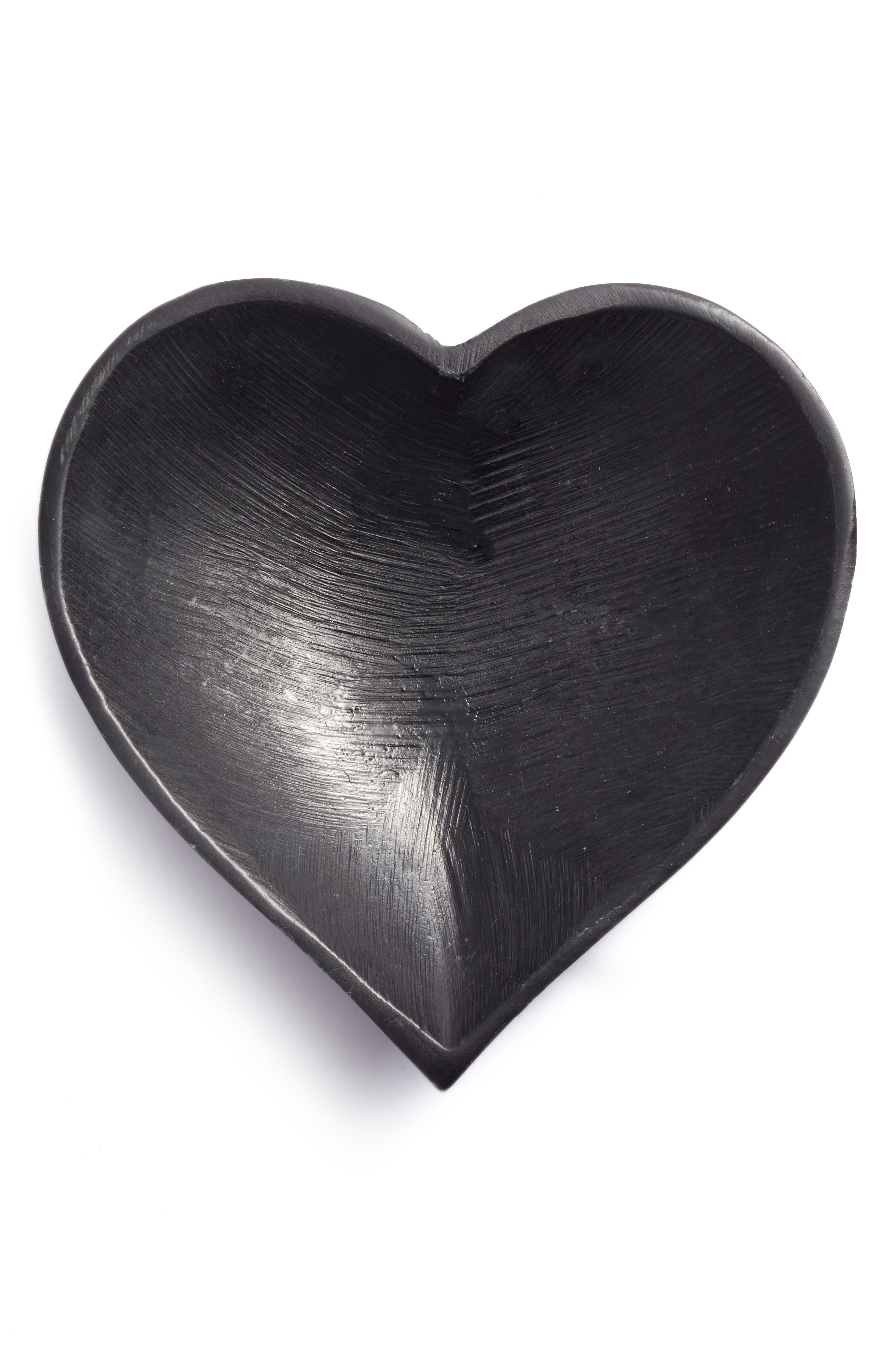 Soapstone Heart Bowl,                         Main,                         color, Black